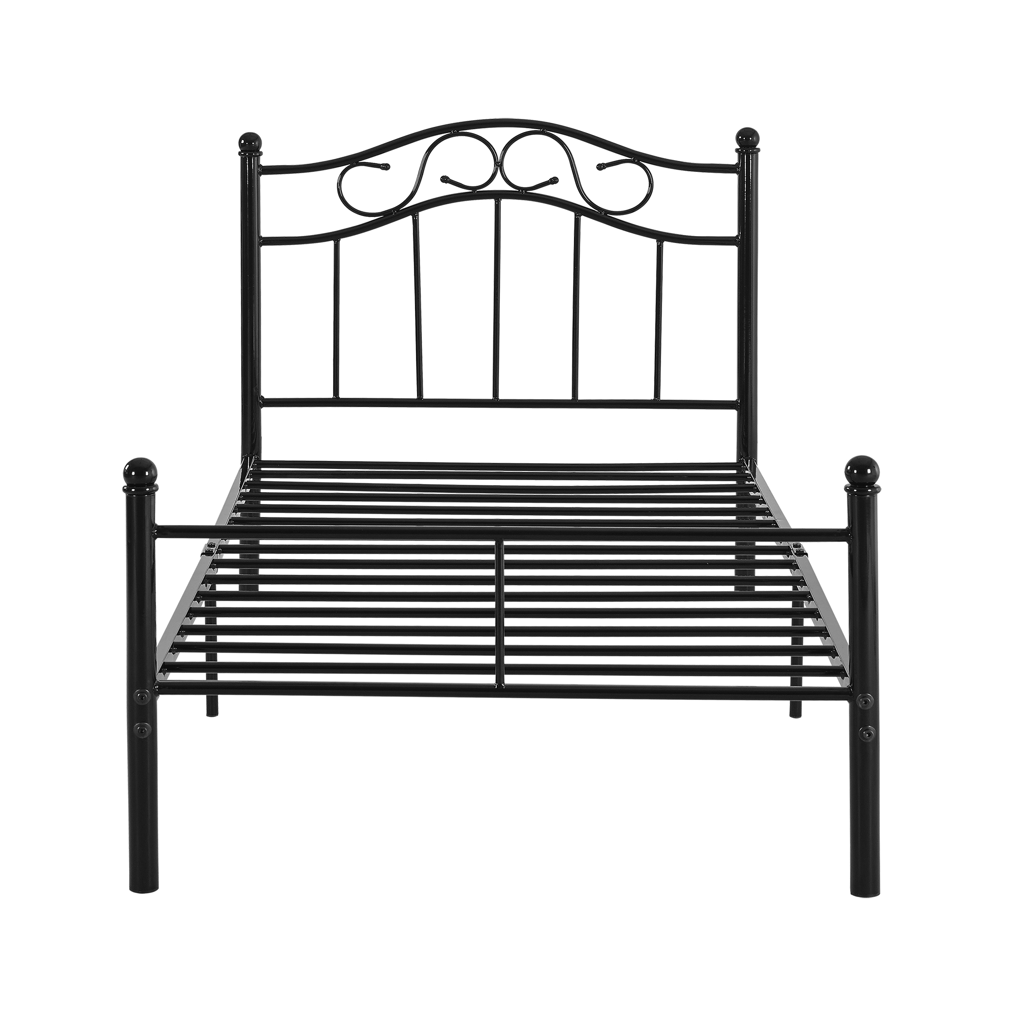 metal bedframe 90 120 140 180 200 x 200 bed bedstead double ebay. Black Bedroom Furniture Sets. Home Design Ideas