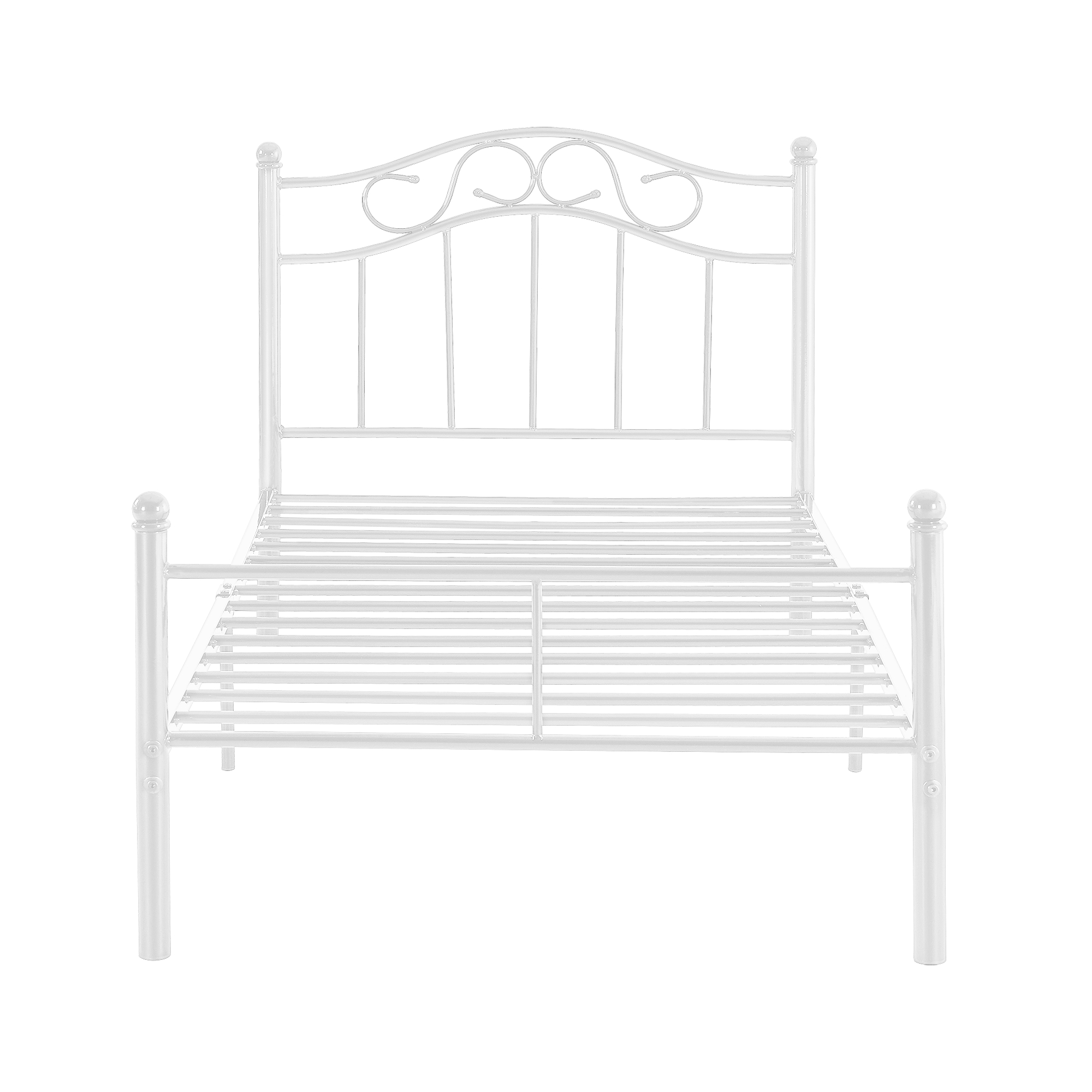 metallbett 120x200 wei mit matratze bettgestell bett jugendbett metall ebay. Black Bedroom Furniture Sets. Home Design Ideas