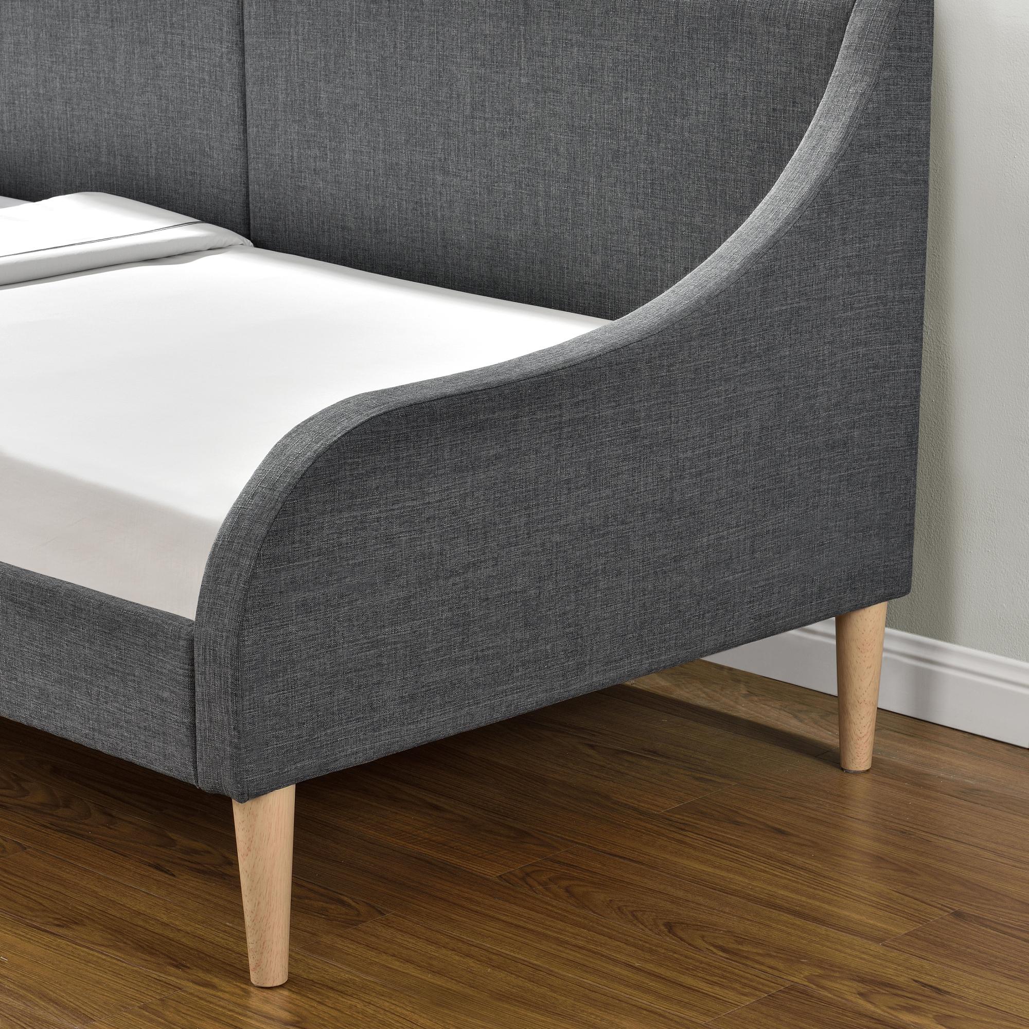® Tagesbett mit Matratze 90 x 200 cm Schlafsofa Bett Textil Bettgestell en.casa