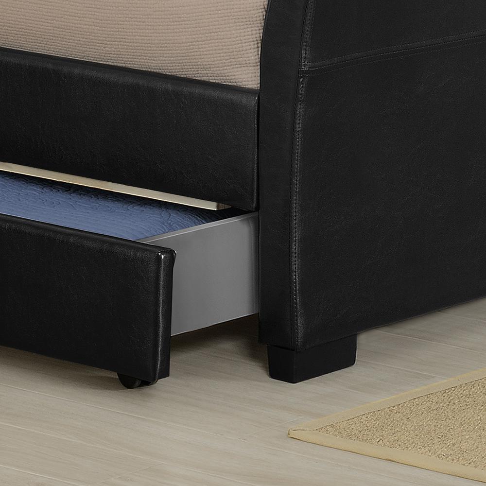 corium schubladenbett 140 180x200 led polster kunst leder doppel bett kasten ebay. Black Bedroom Furniture Sets. Home Design Ideas