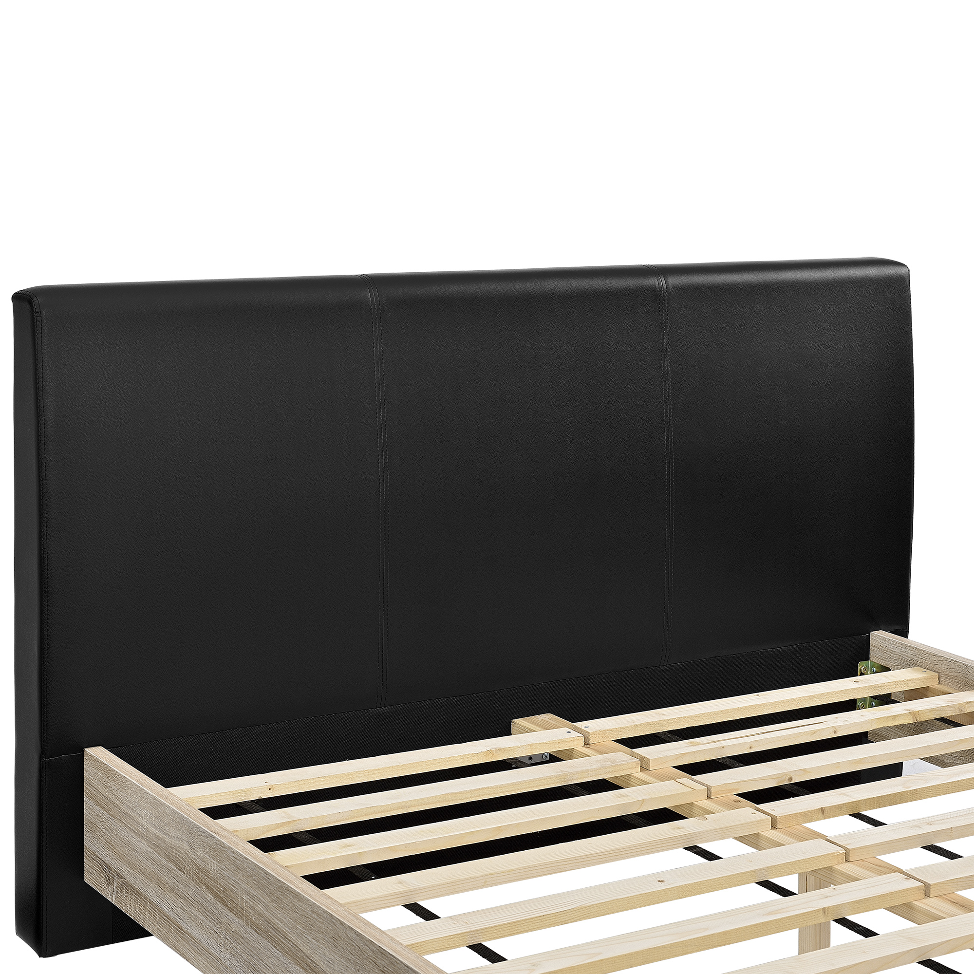 design polsterbett 140x200cm holz doppel bett. Black Bedroom Furniture Sets. Home Design Ideas