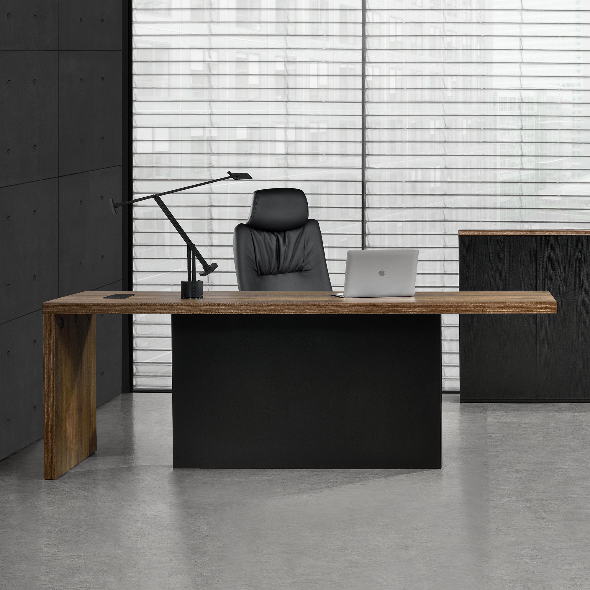 en.casa]® Schreibtisch Computertisch Büro Tisch Konsole Chefzimmer ...