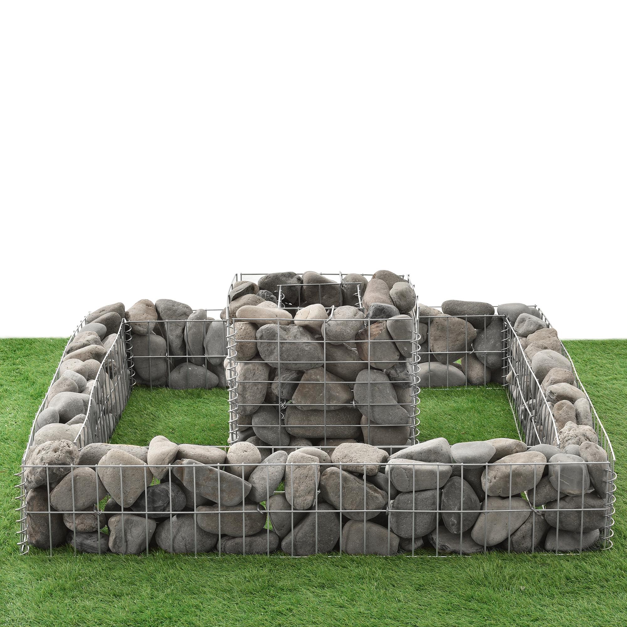 gabionen 2er set hochbeet gabione steink rbe blumenbeet drahtkorb ebay. Black Bedroom Furniture Sets. Home Design Ideas