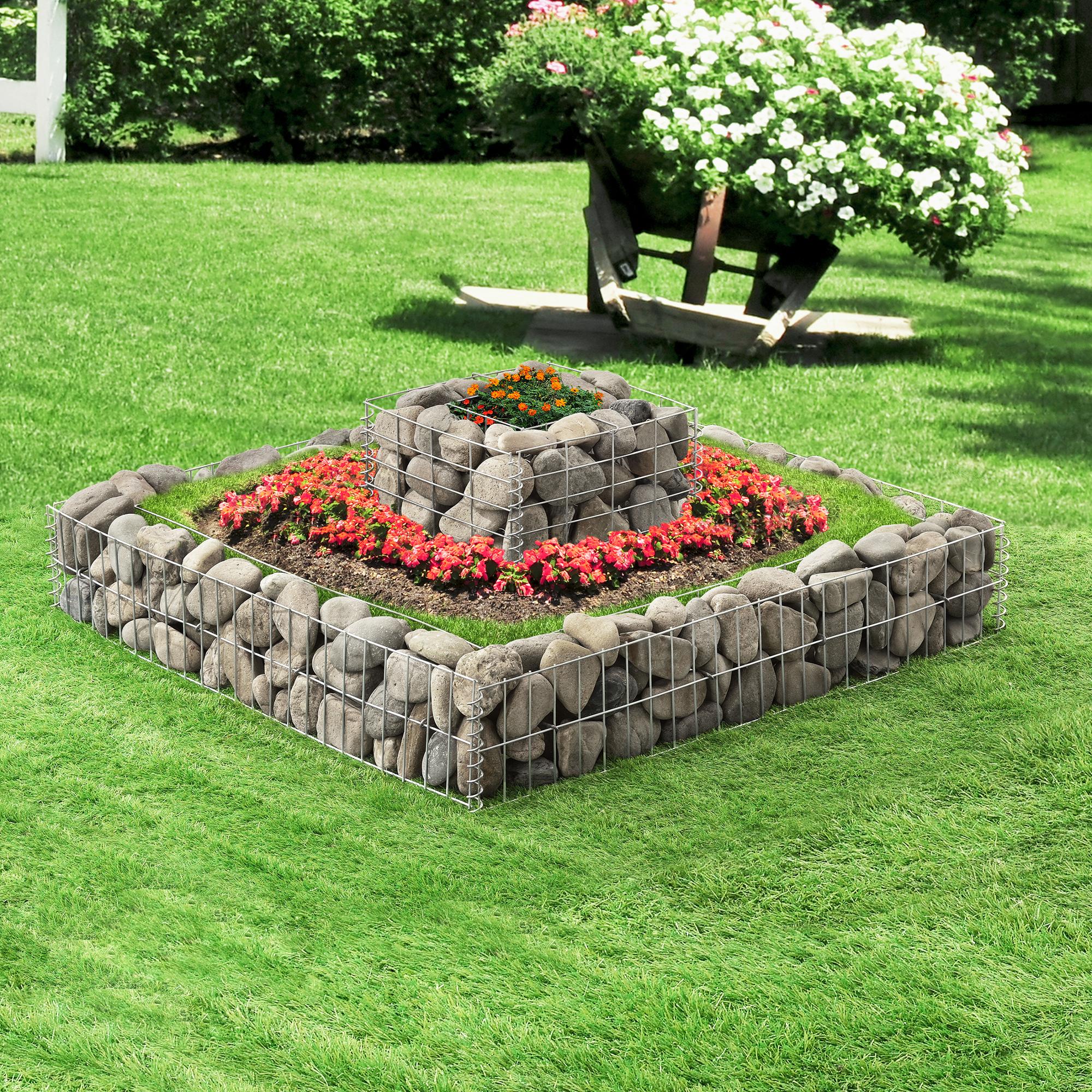 gabione s ule pergone steingabione steinkorb mauer wand drahtkorb stein gabionen ebay. Black Bedroom Furniture Sets. Home Design Ideas