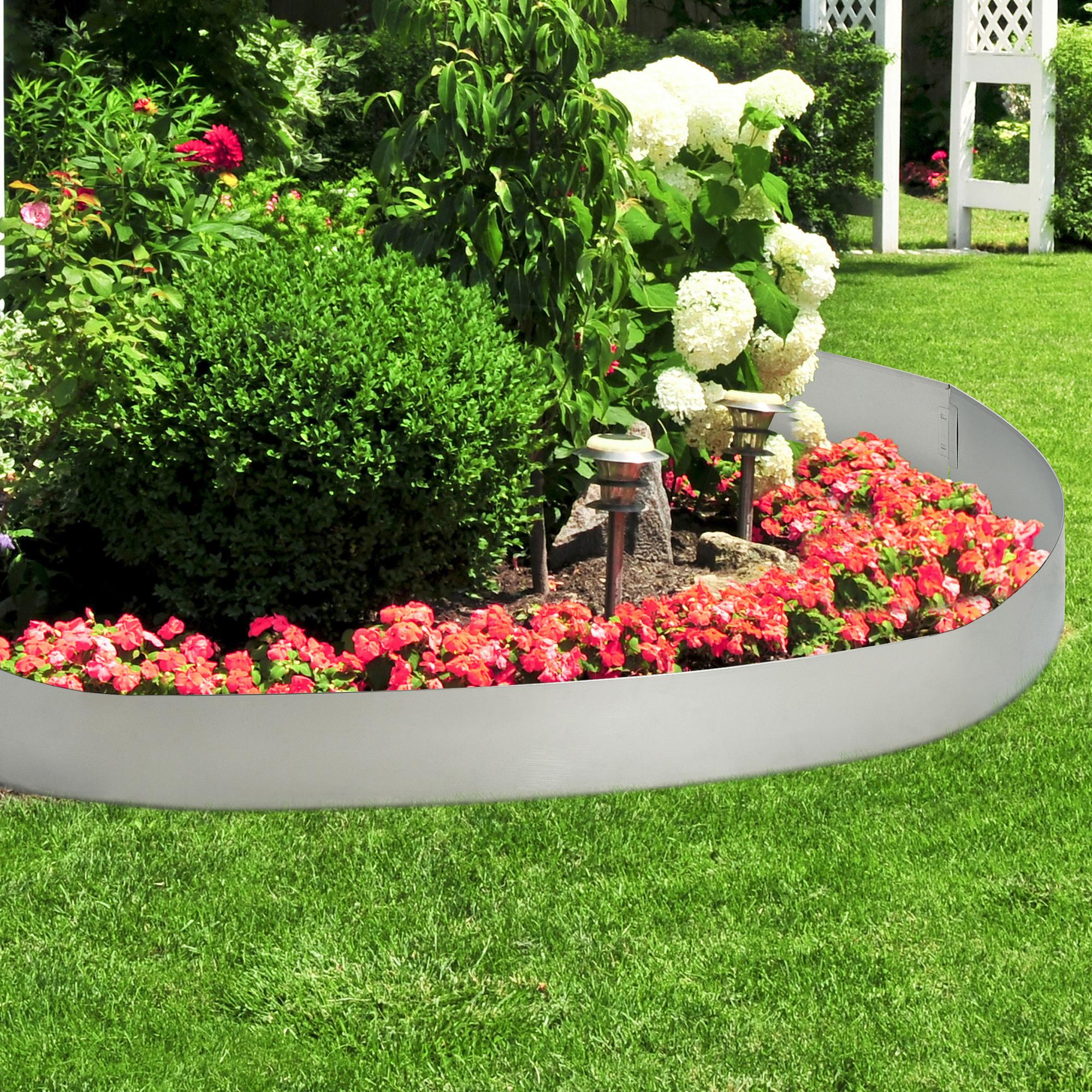 casa.pro]® bordure pour jardin acier galvanisé barrière 50 m kit de