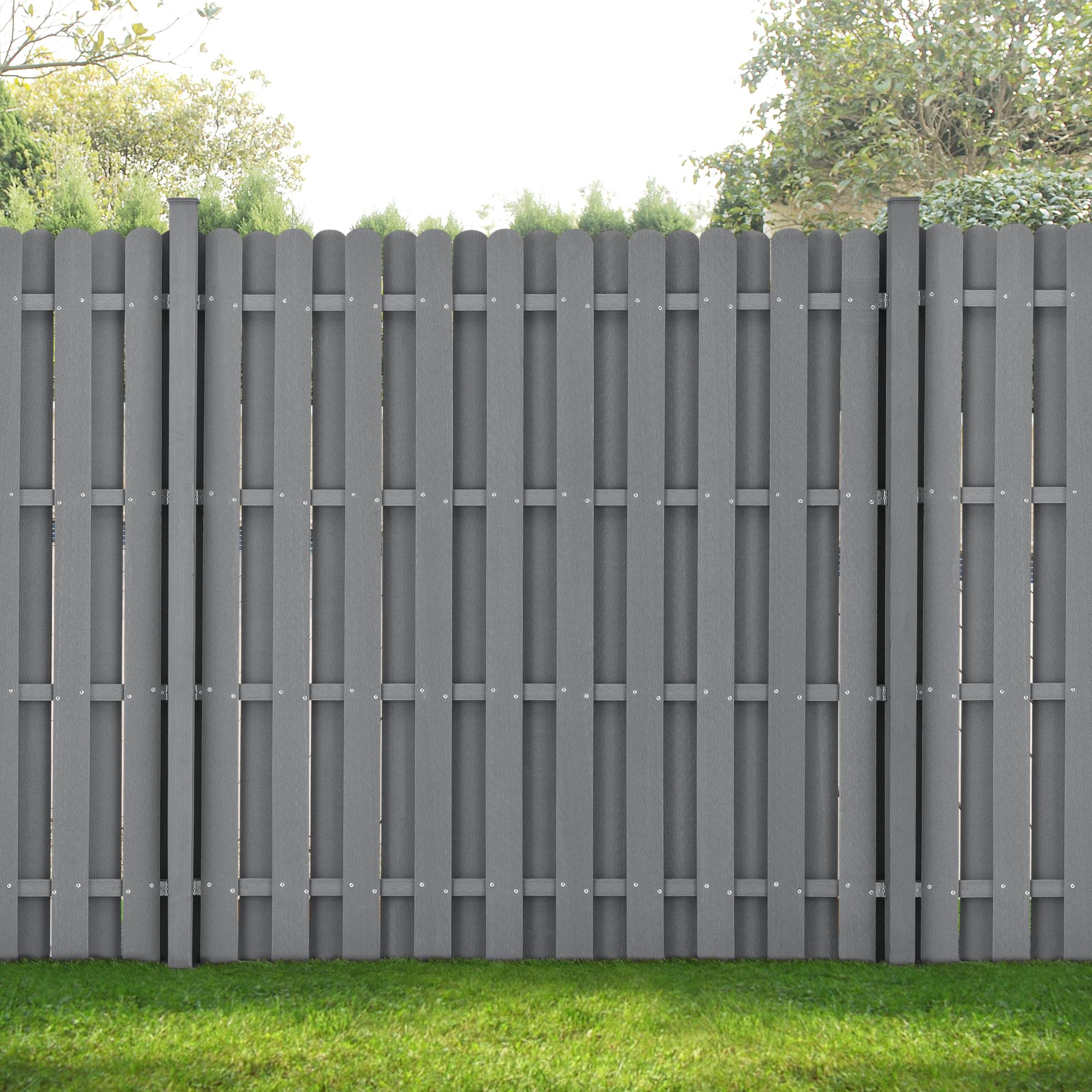 Neu Holz Wpc Gartenzaun Sichtschutzzaun Windschutz Lamellenzaun