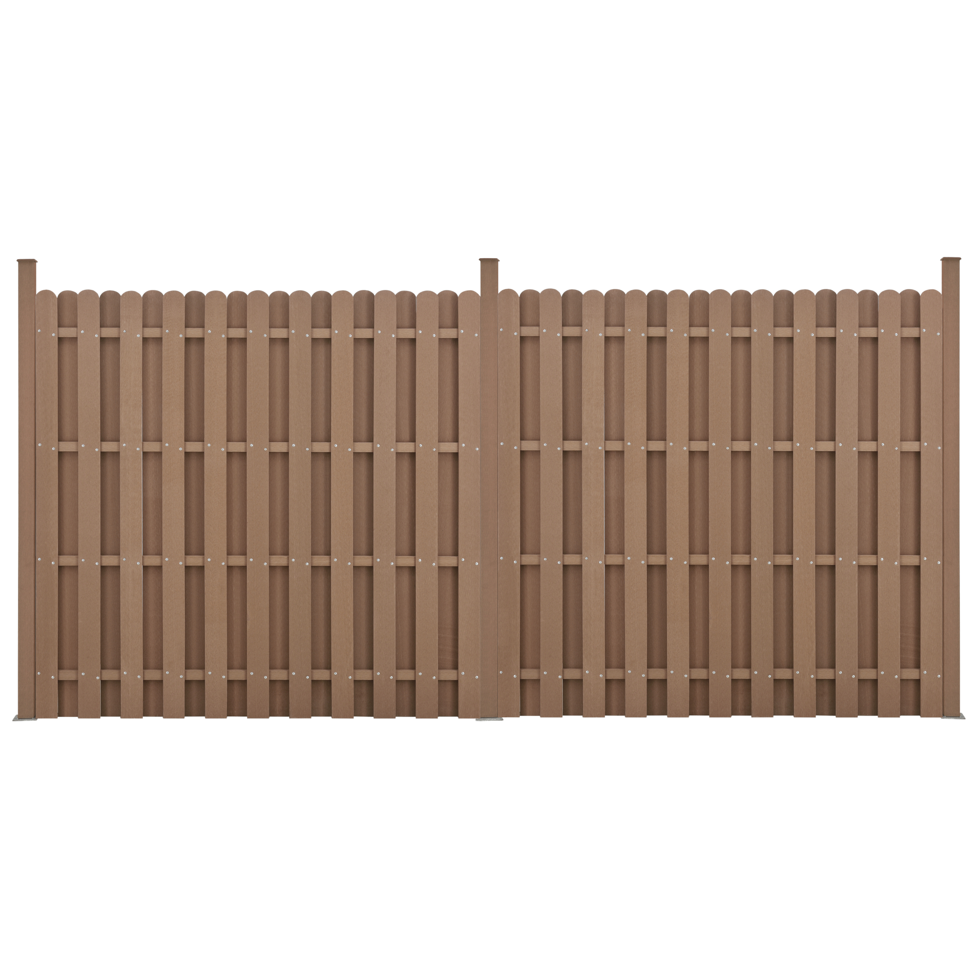 Neu Holz Wpc Gartenzaun Sichtschutz Windschutz Lamellenzaun Zaun