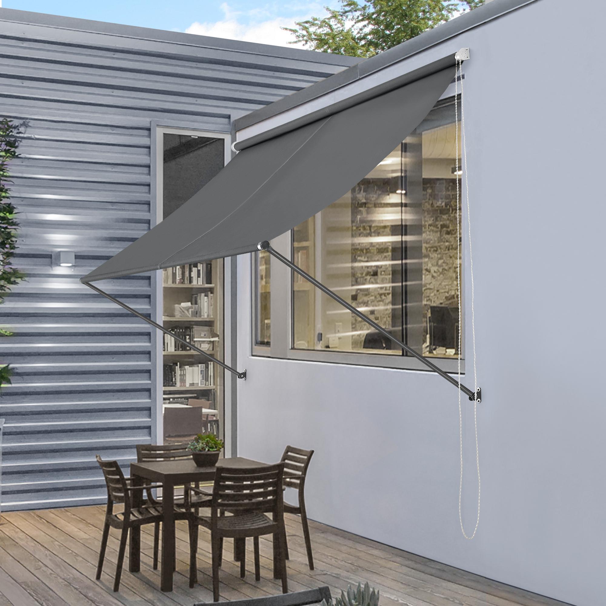 pro.tec® Markise Sonnenschutz Beschattung Terrasse Garten Windschutz Seitenzug