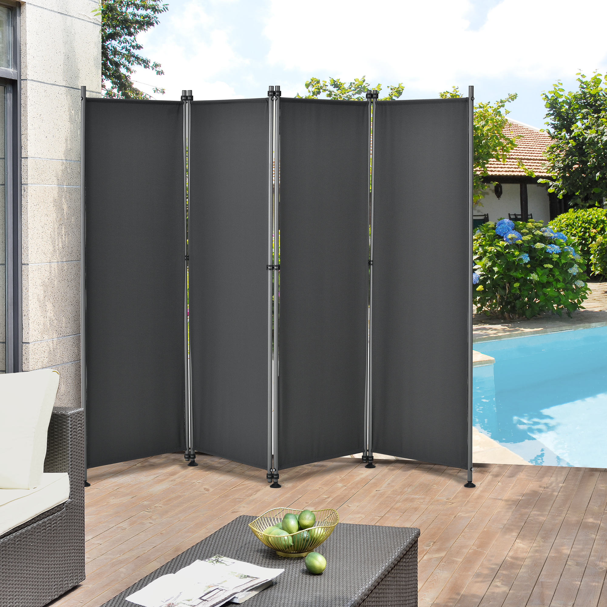 outdoor trennwand 170x215cm paravent sichtschutz spanische wand garten ebay. Black Bedroom Furniture Sets. Home Design Ideas