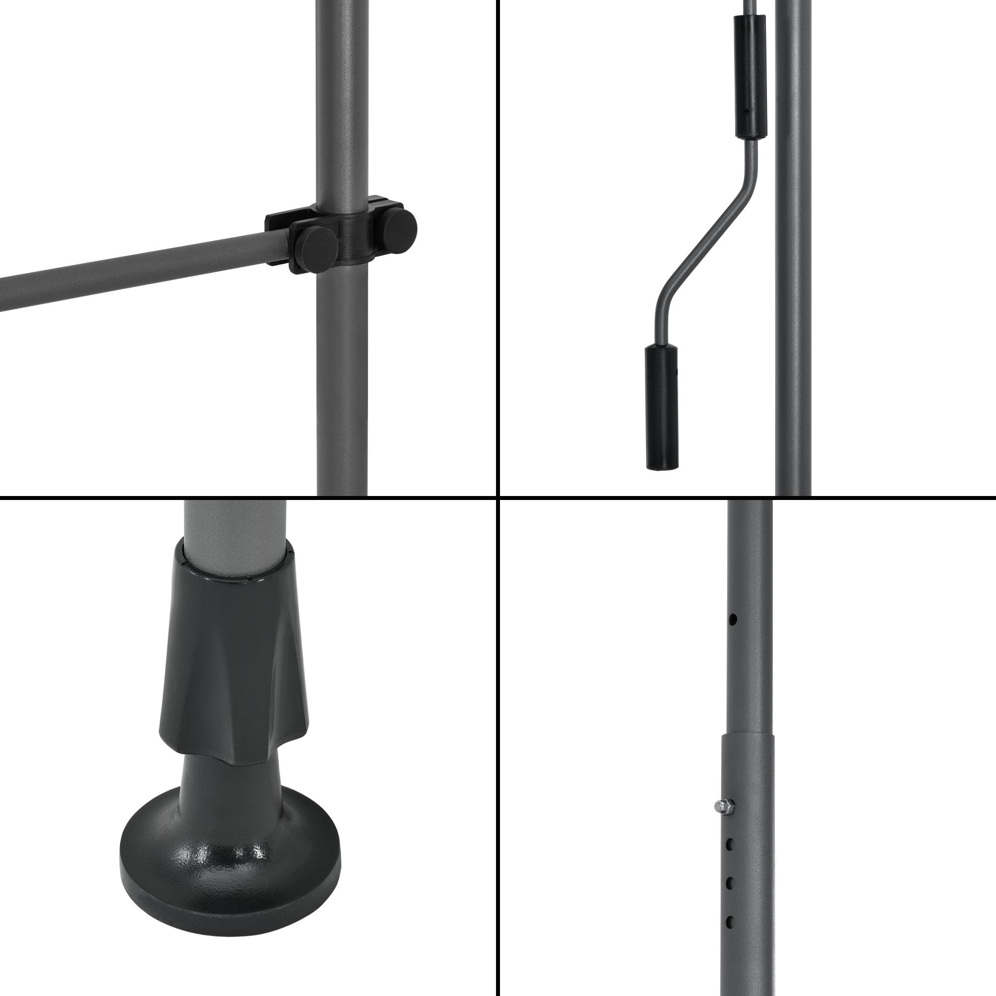 klemmmarkise 200 300cm markise balkonmarkise sonnenschutz ohne bohren ebay. Black Bedroom Furniture Sets. Home Design Ideas