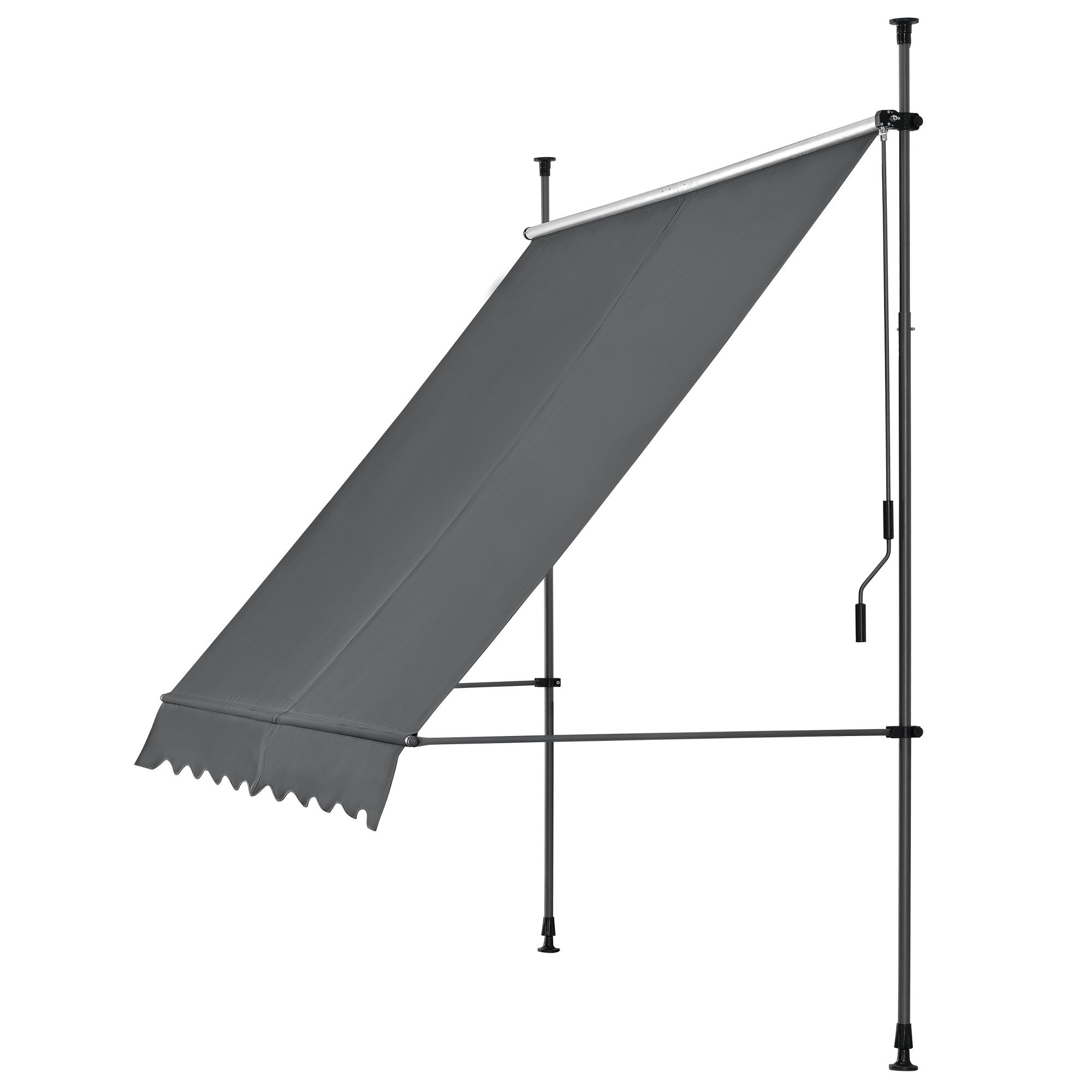 pro tec pince marquise 200 300 cm auvent balcon store protection soleil sans percer ebay. Black Bedroom Furniture Sets. Home Design Ideas