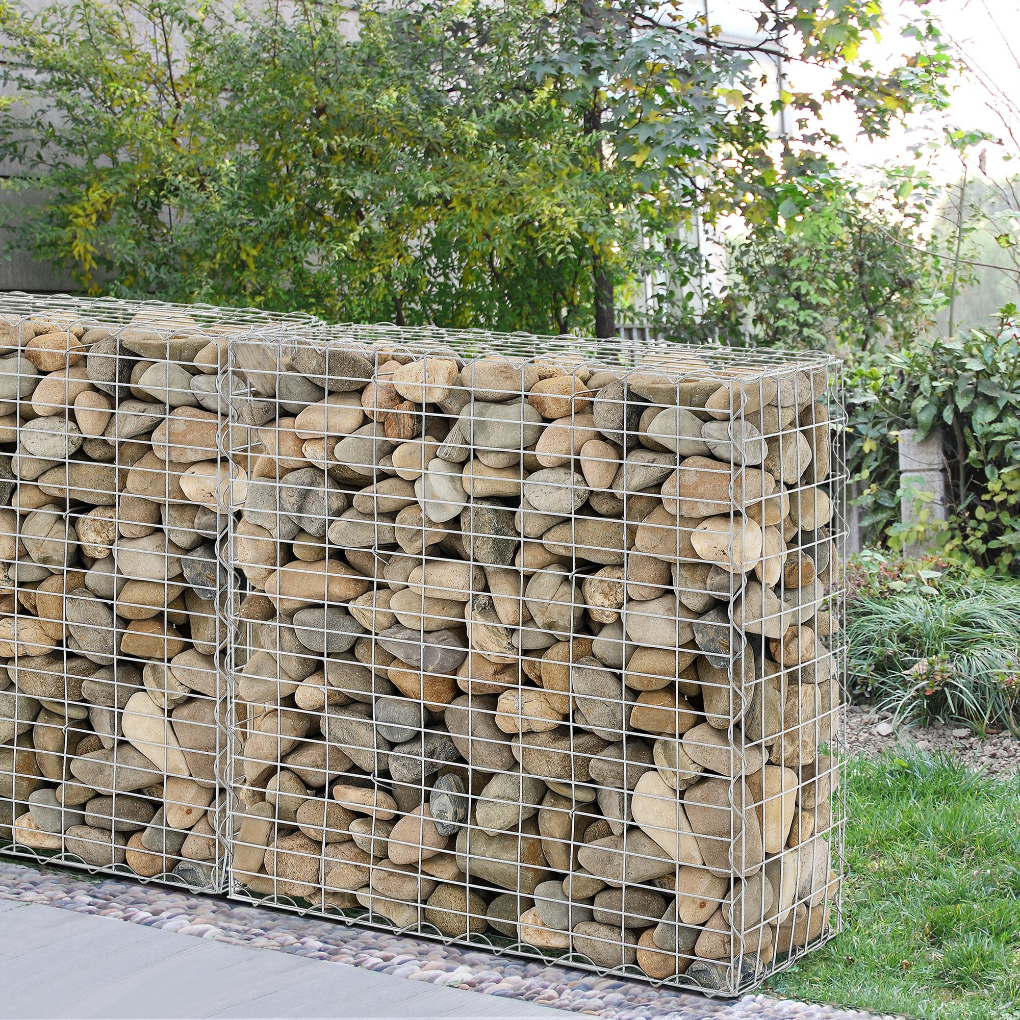 5 x gabions each 100x100x30cm stone gabione stone basket wall wall stone gabions ebay. Black Bedroom Furniture Sets. Home Design Ideas