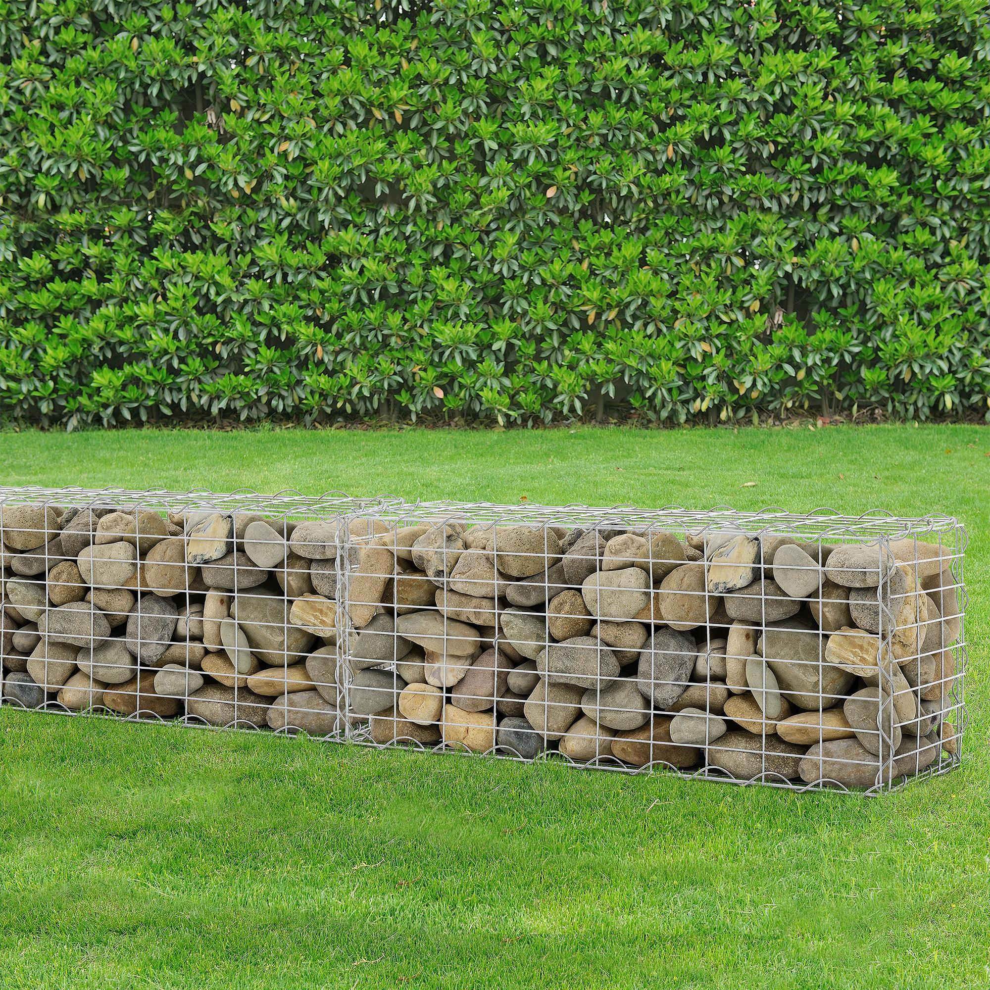 gabion 100x40x30 cm stone basket wall wire bench ebay. Black Bedroom Furniture Sets. Home Design Ideas