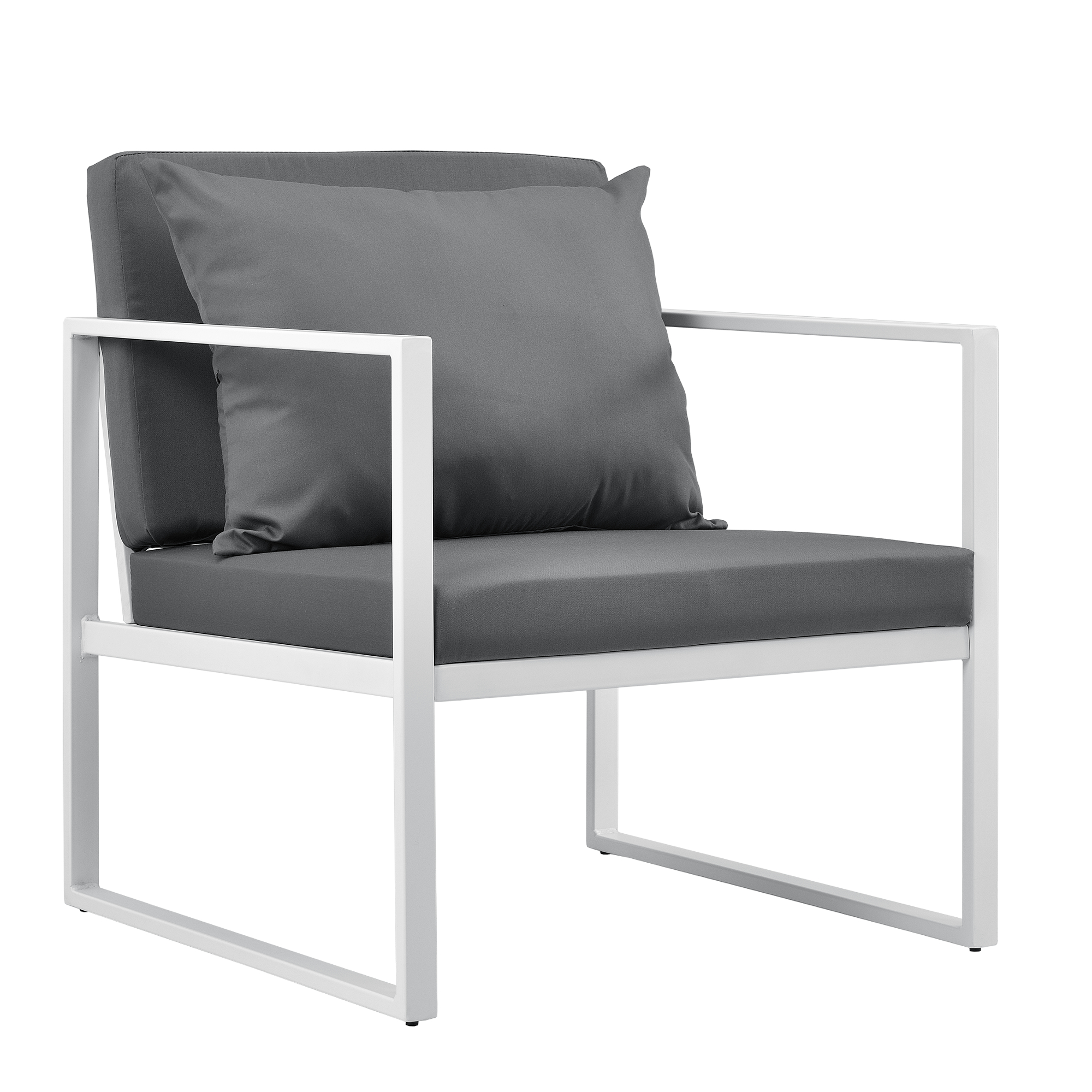 Détails sur Casa.pro 2x Chaise de Jardin Blanc - Gris Extérieur Salon  Fauteuil