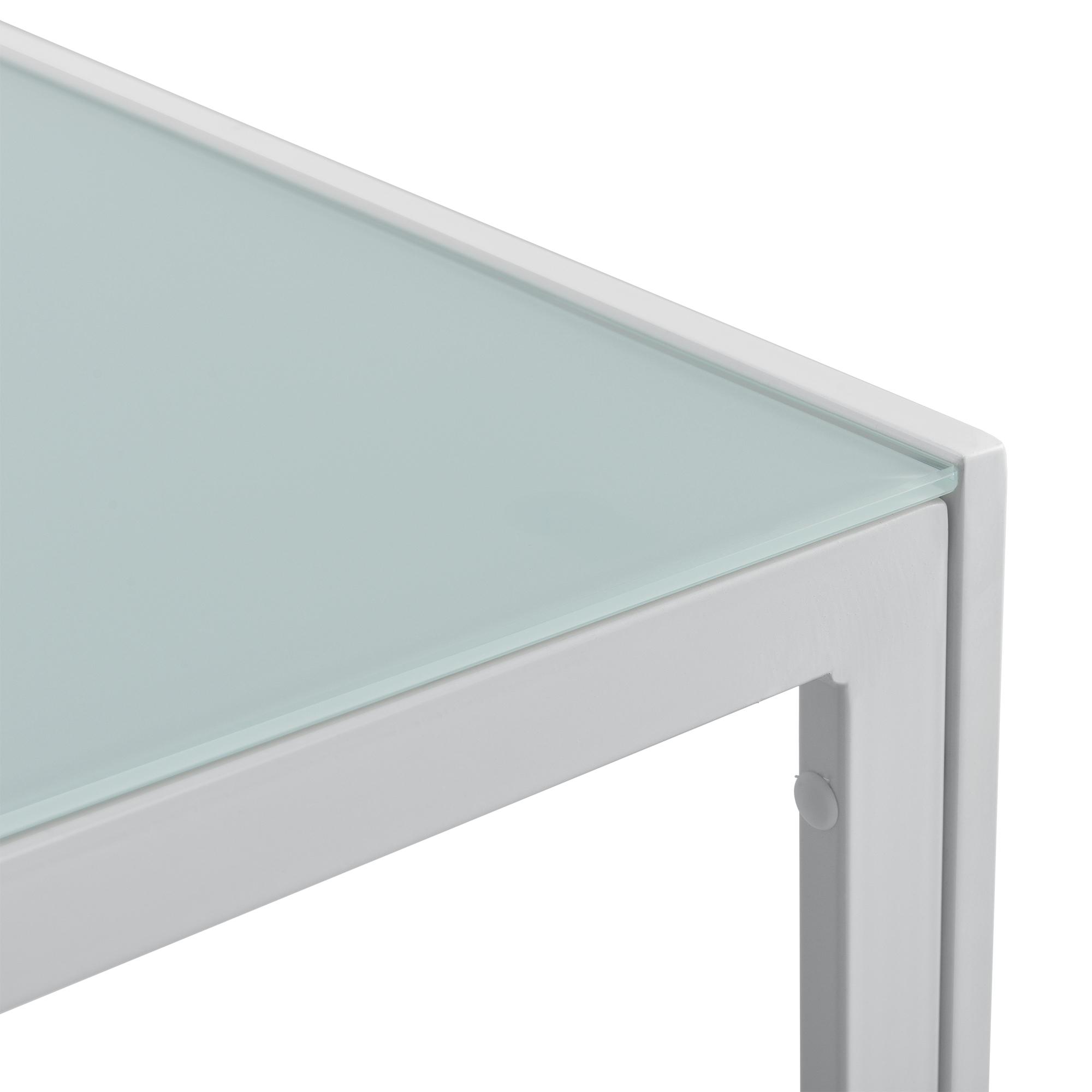 Table de Jardin 100x50x35cm Blanc Table Table Basse Extérieur Jardin ...