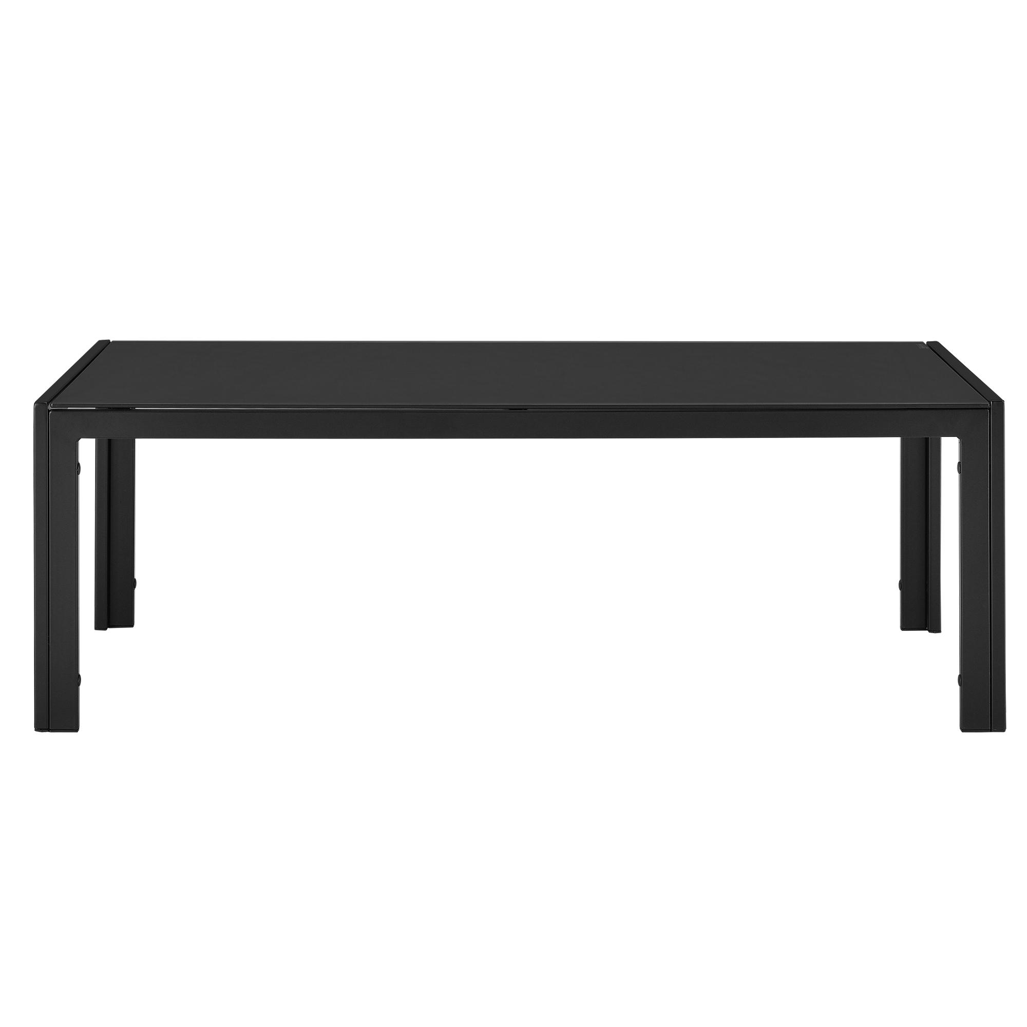 Table de Jardin 100x50x35cm Noir Table Table Basse Extérieur Jardin ...