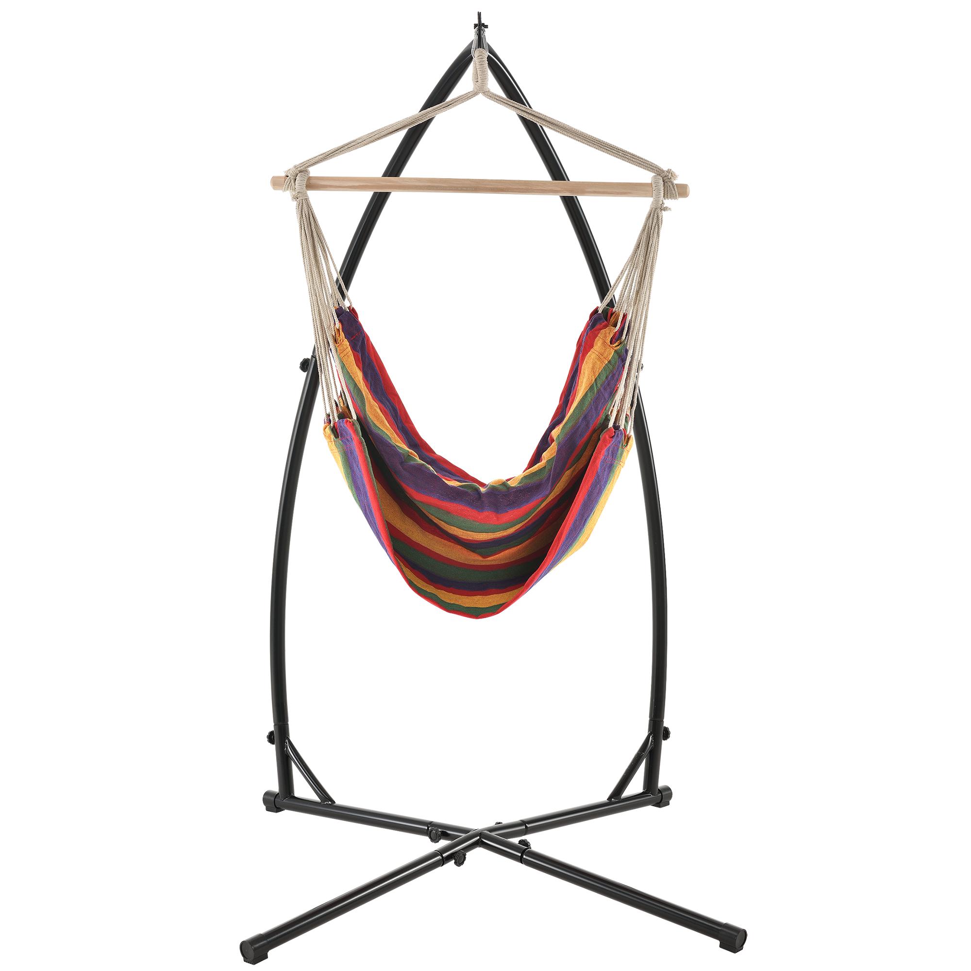 xxl h ngesessel mit gestell color h ngesitz h ngeschaukel h ngematte ebay. Black Bedroom Furniture Sets. Home Design Ideas