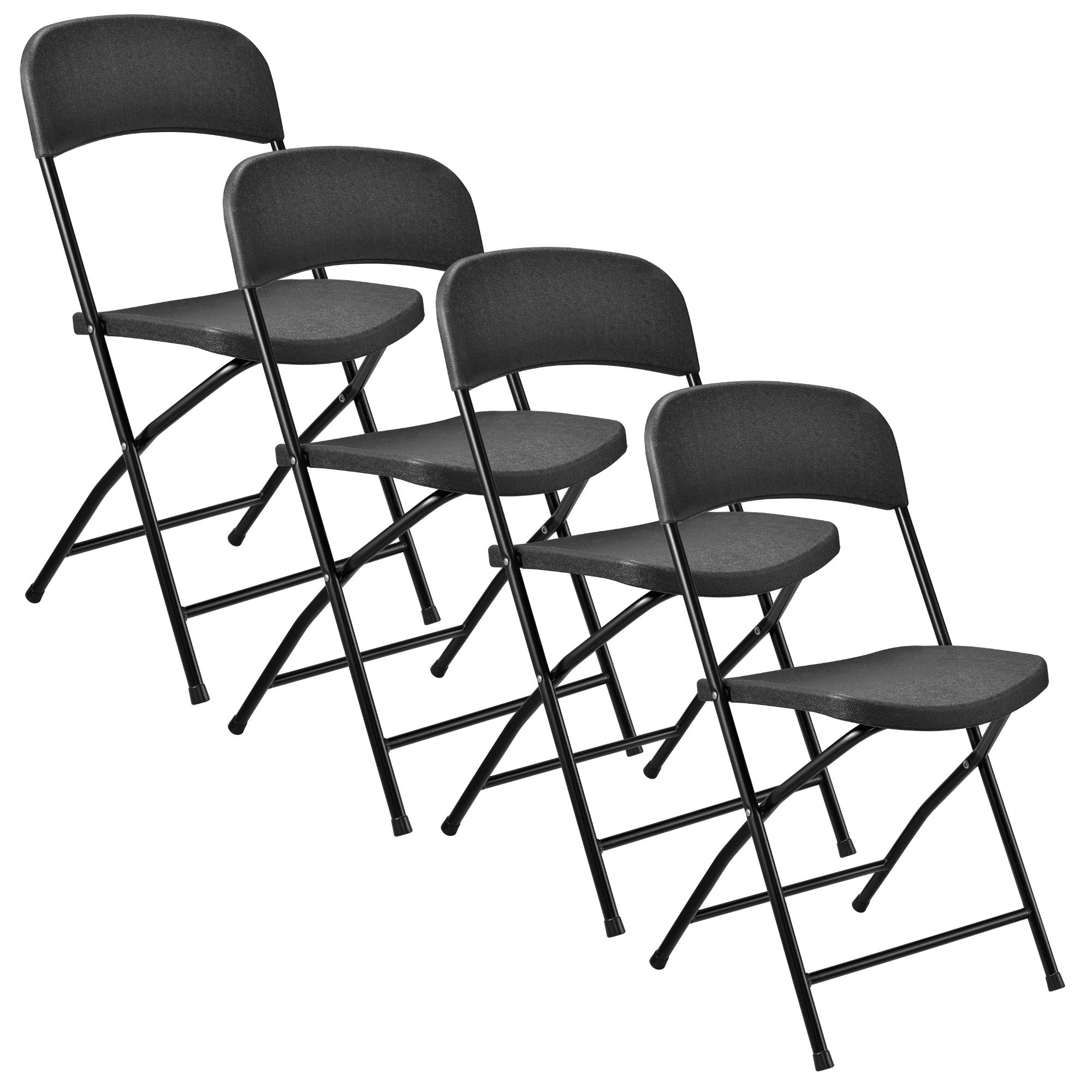 Table de jardin gris 183x76cm avec 4 chaises garniture pliante ebay - Table pliante avec 4 chaises integrees ...