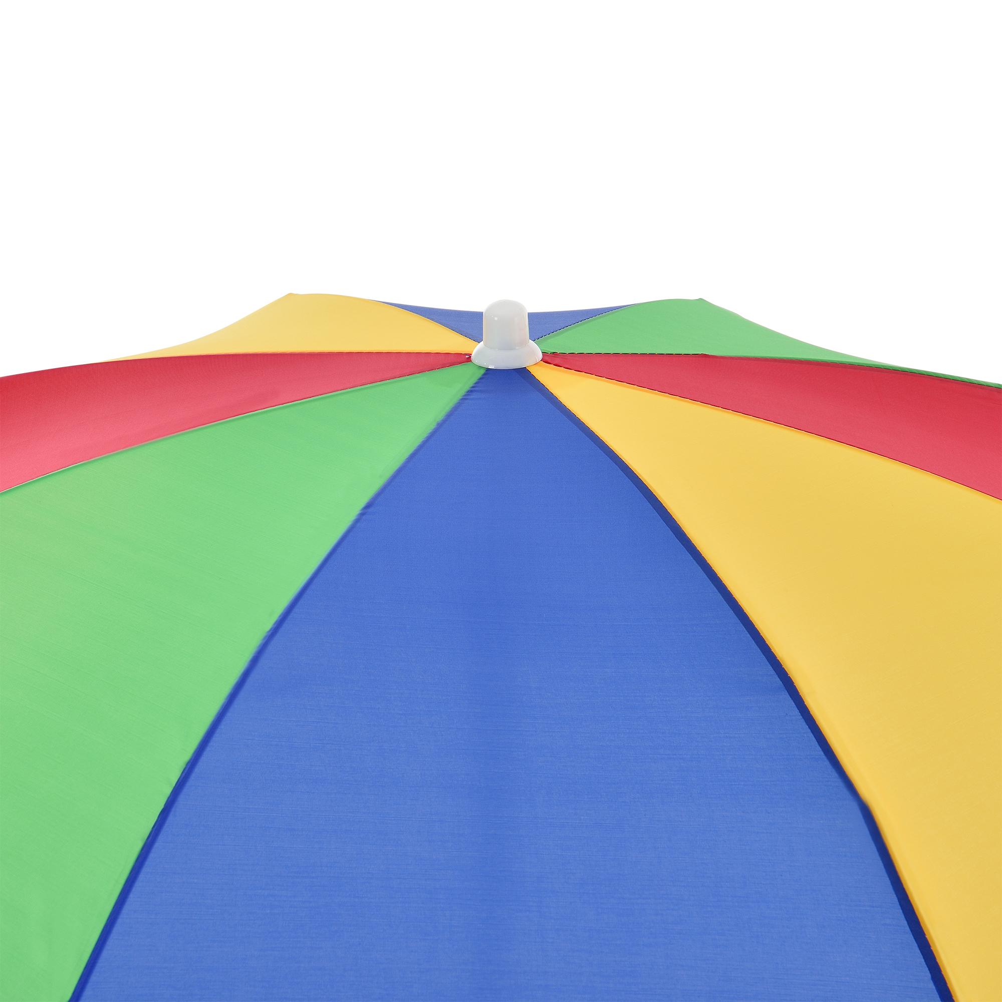® Strandschirm Ø140cm Bunt Sonnenschirm Schirm Gartenschirm UV Schutz casa.pro