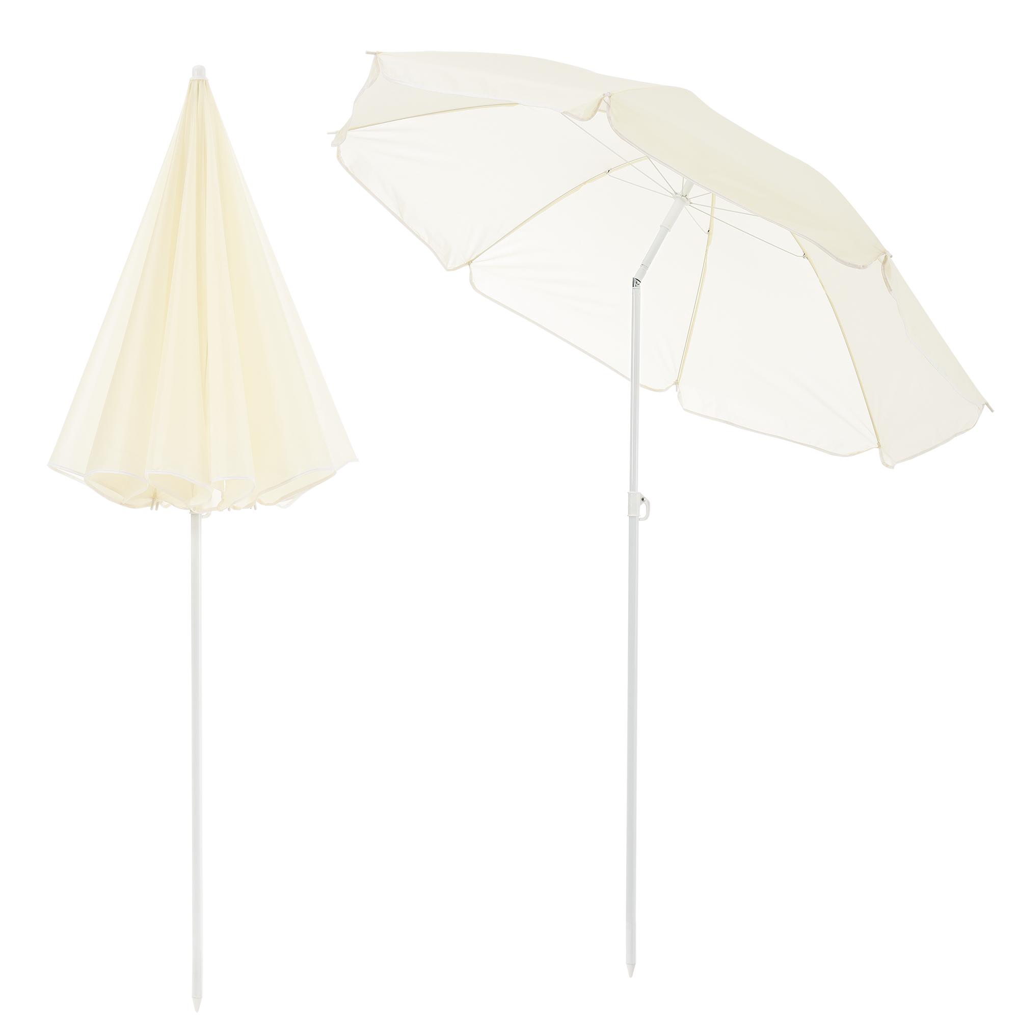 Parasol De Plage Pliable : parasol de plage 180cm cr me soleil parasol ~ Nature-et-papiers.com Idées de Décoration