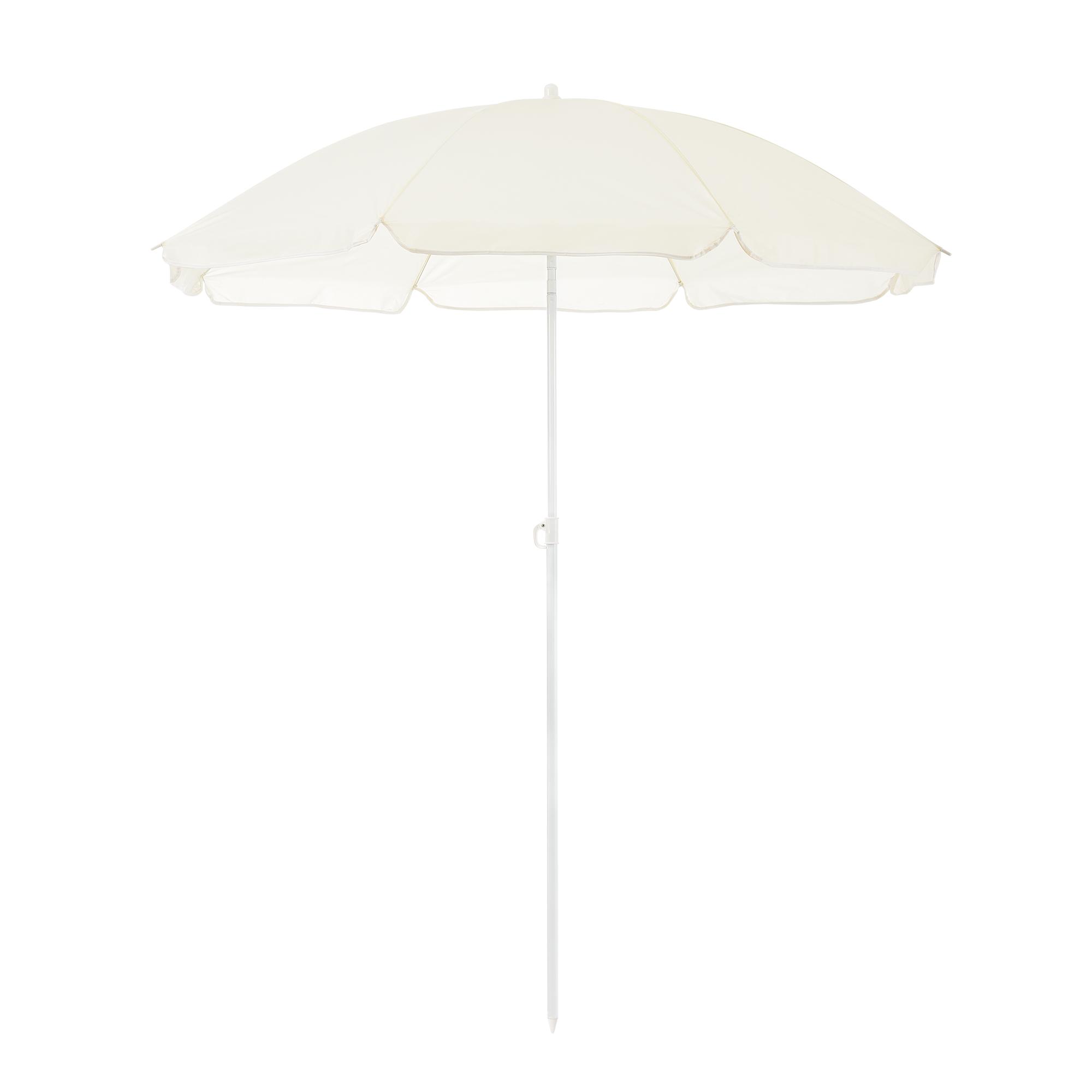 strandschirm 180cm creme sonnenschirm schirm gartenschirm knickgelenk ebay. Black Bedroom Furniture Sets. Home Design Ideas