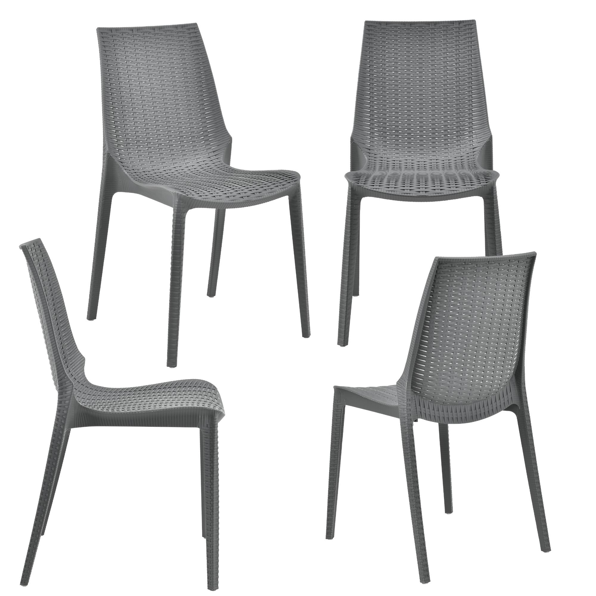 seating area garden furniture grey poly rattan. Black Bedroom Furniture Sets. Home Design Ideas
