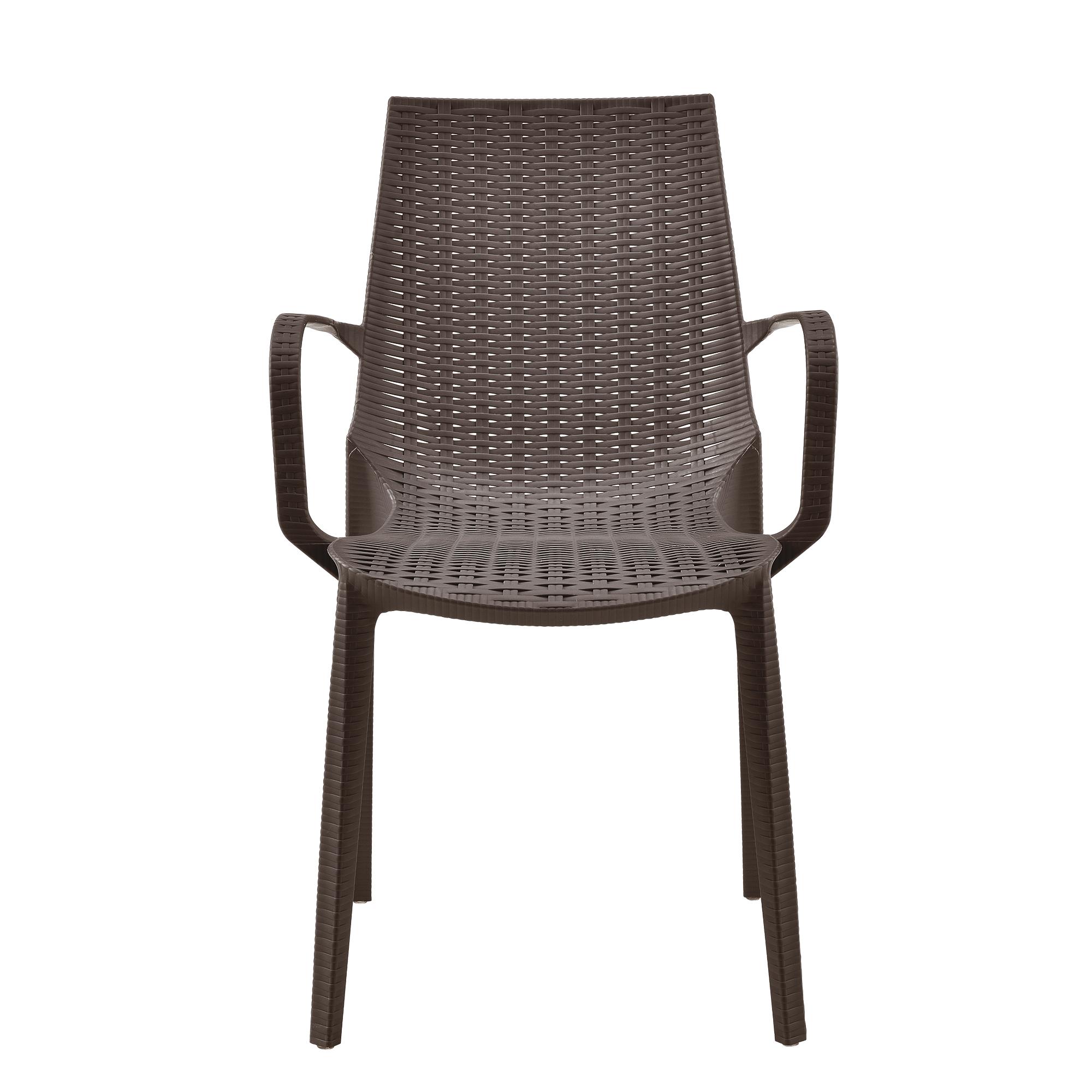 2x gartenstuhl 89x54 5x55cm braun rattan optik lehne polyrattan stuhl ebay. Black Bedroom Furniture Sets. Home Design Ideas