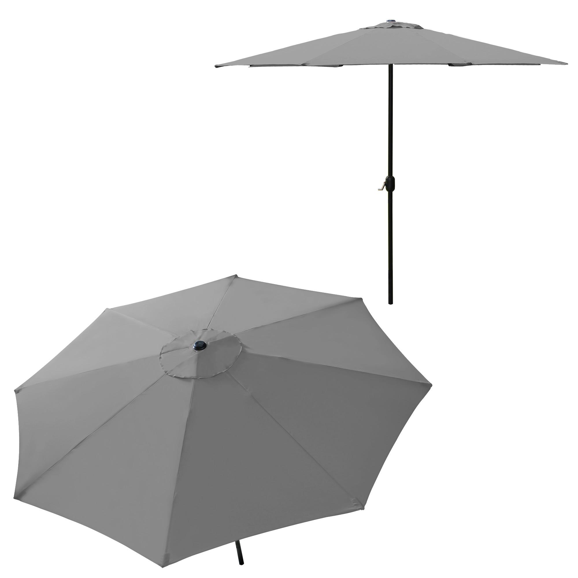 parasol half screen 300cm cream grey green. Black Bedroom Furniture Sets. Home Design Ideas