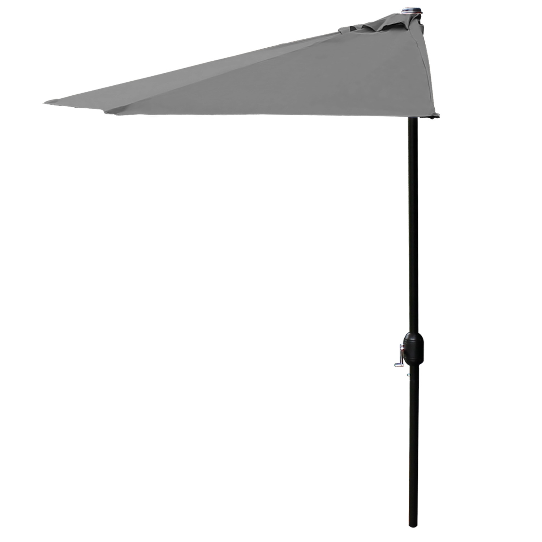parasol half screen 300cm beige grey green. Black Bedroom Furniture Sets. Home Design Ideas