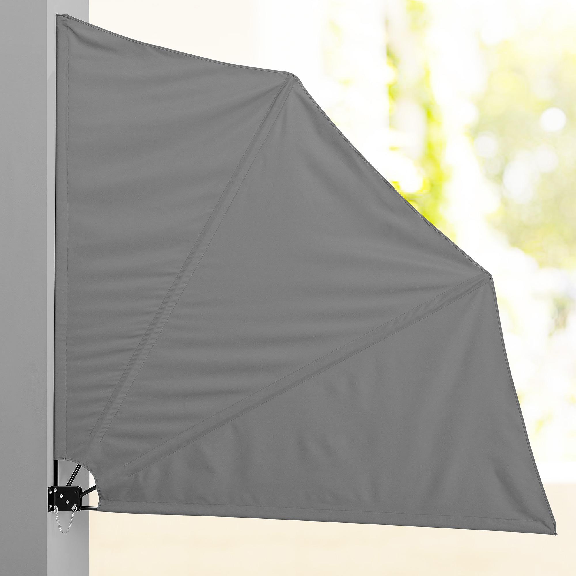 Balkonf Cher Sichtschutz Grau Seiten Markise