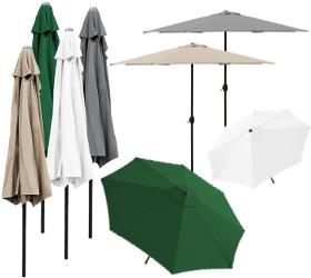 halb sonnenschirm 300cm wei kurbel markt garten schirm halbrund ebay. Black Bedroom Furniture Sets. Home Design Ideas