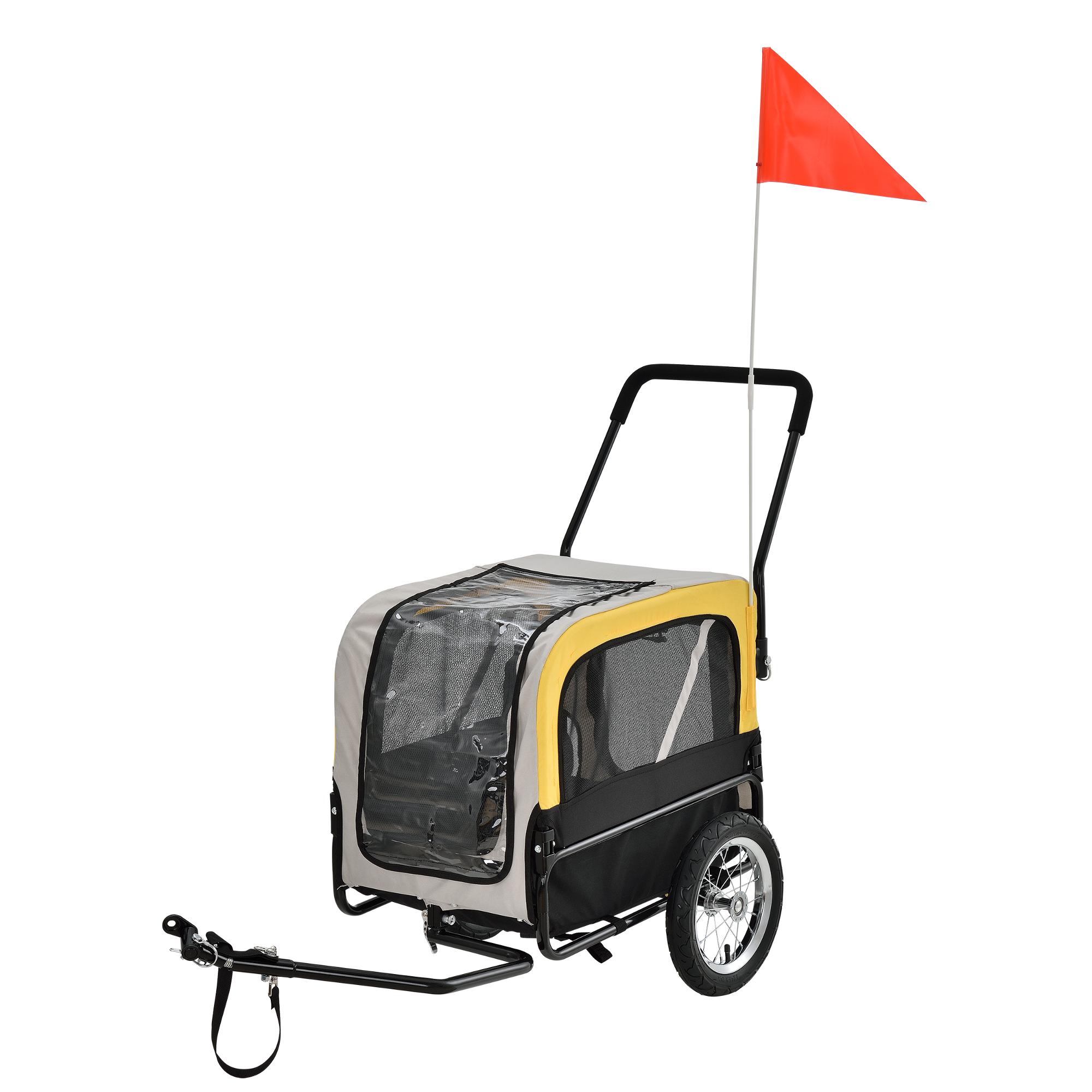 [pro.tec]® Vozík za kolo - do 25 kg - 107 x 56 x 97 cm