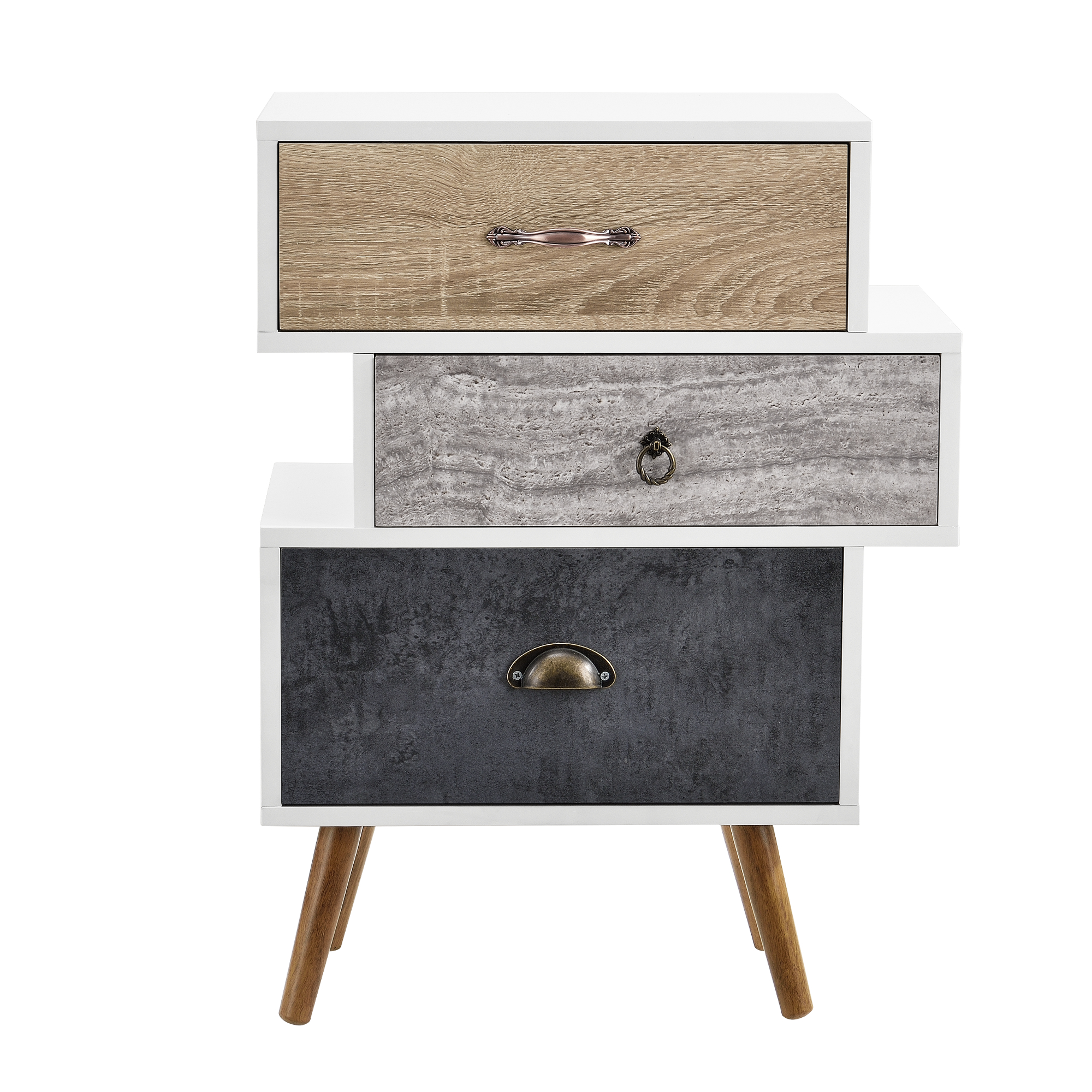 highboard kommode sideboard schrank wei grau eiche beistelltisch ebay. Black Bedroom Furniture Sets. Home Design Ideas