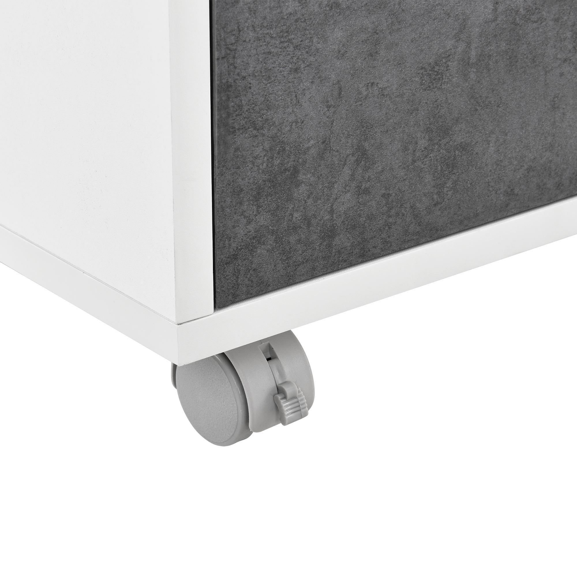 highboard kommode sideboard schrank wei eiche grau beistelltisch ebay. Black Bedroom Furniture Sets. Home Design Ideas