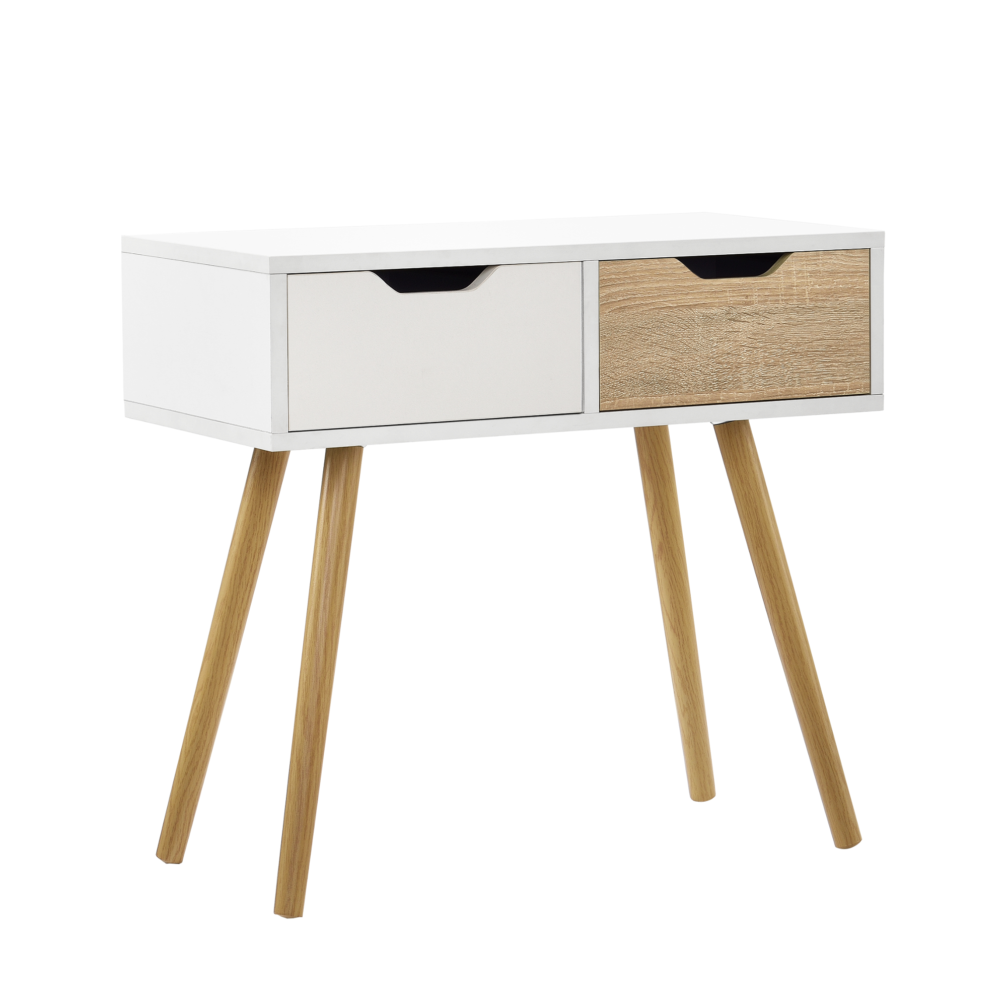 console table white oak side table wall side table console sideboard ebay. Black Bedroom Furniture Sets. Home Design Ideas