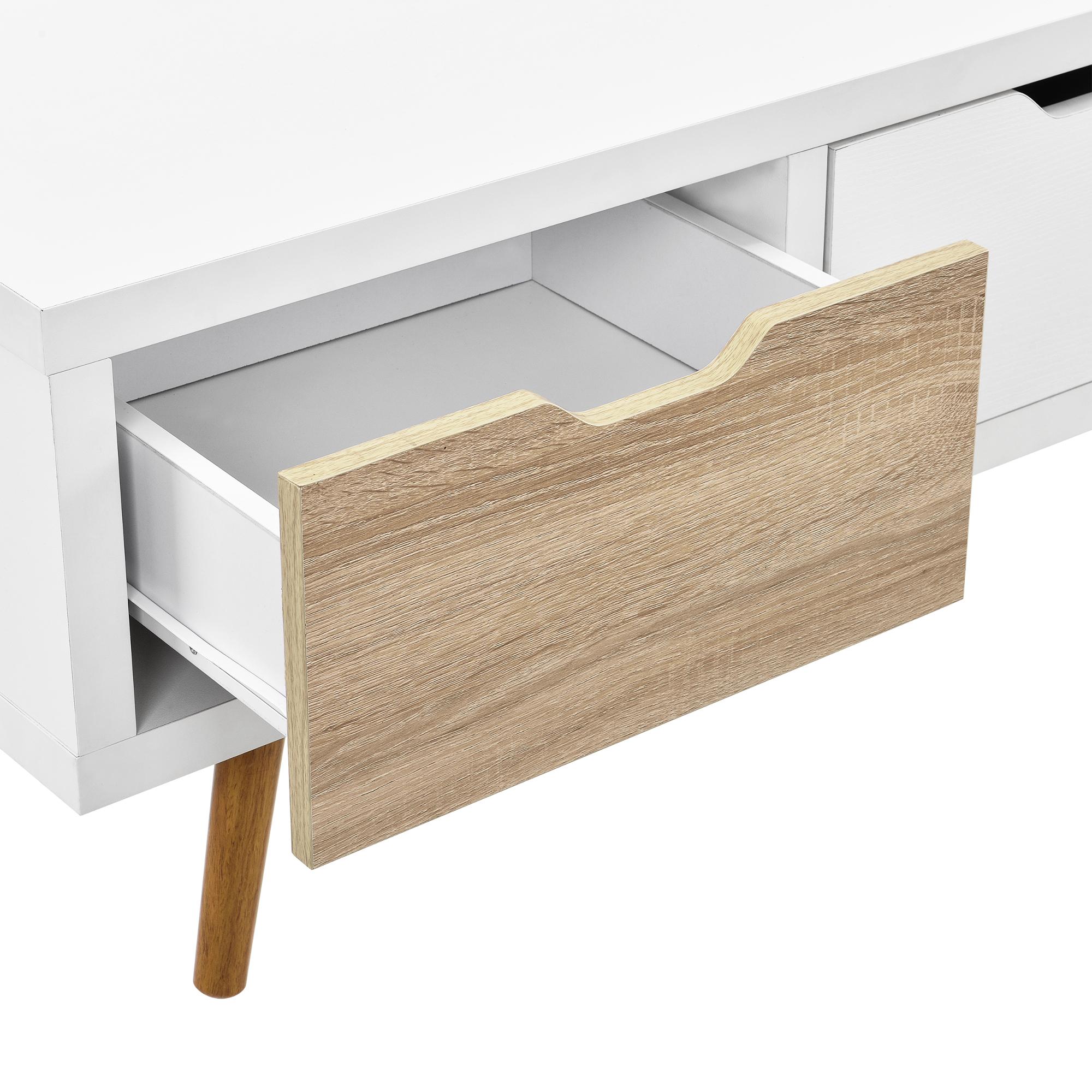 Design tv lowboard wei fernsehtisch konsole for Fernsehtisch design