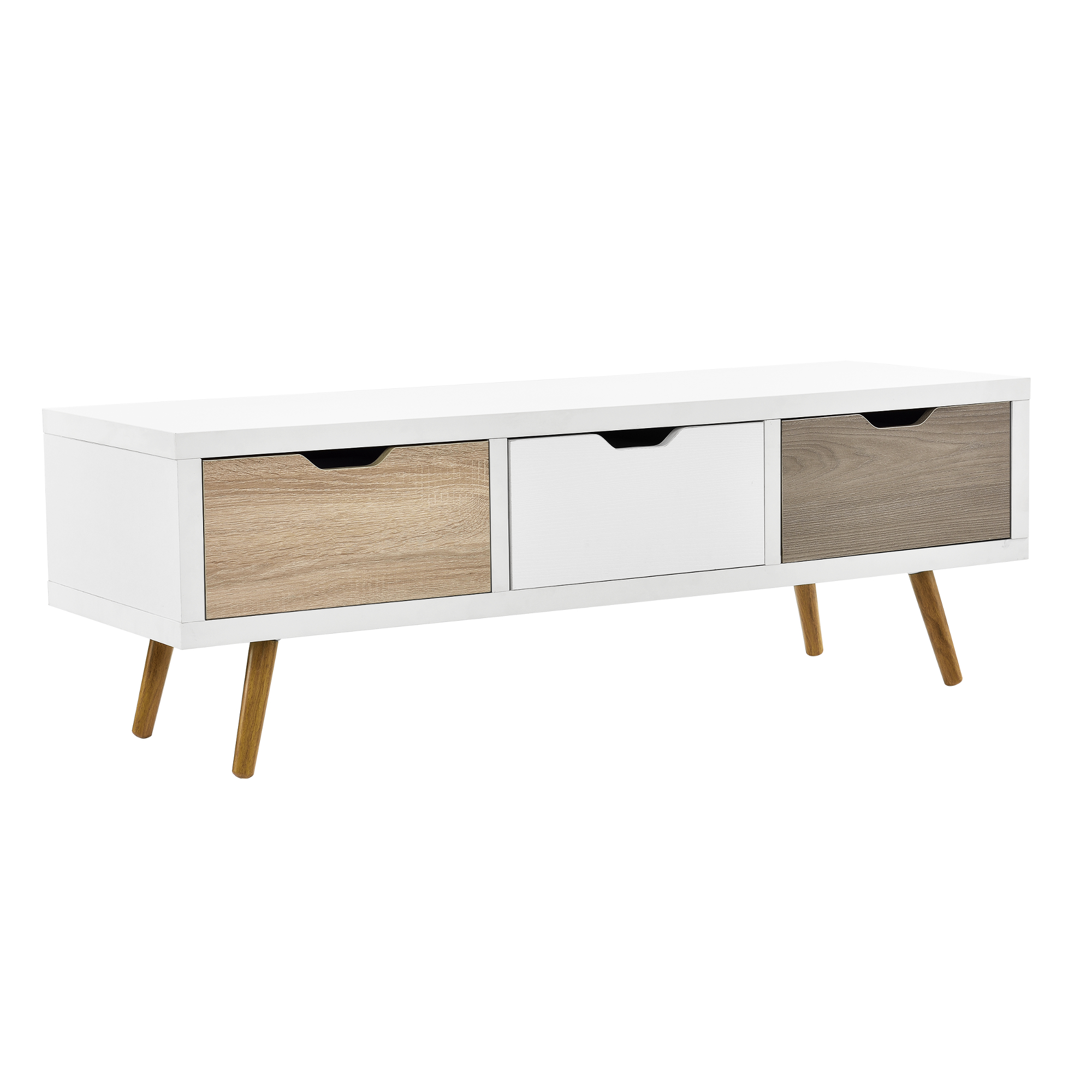 Design tv lowboard wei fernsehtisch konsole for Sideboard kommode