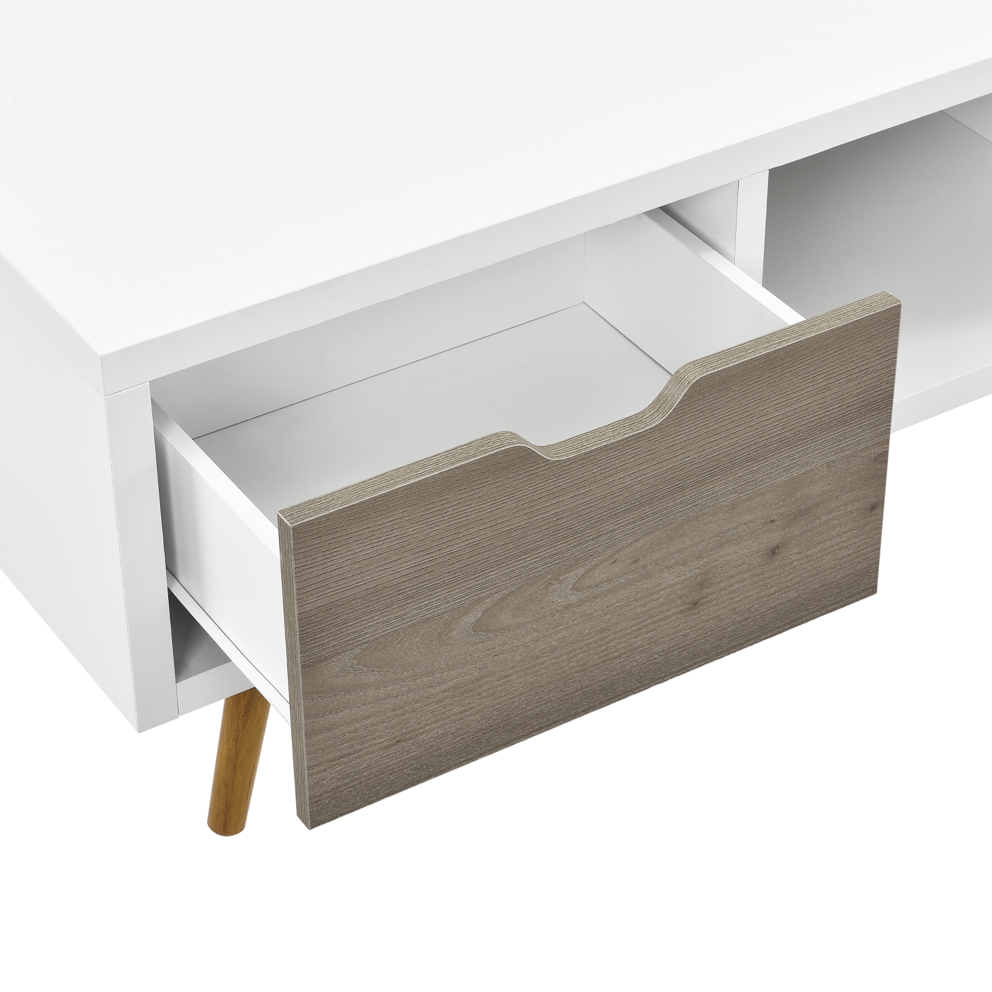 dresser white oak grey living room wardrobe sideboard retro tv lowboard ebay. Black Bedroom Furniture Sets. Home Design Ideas