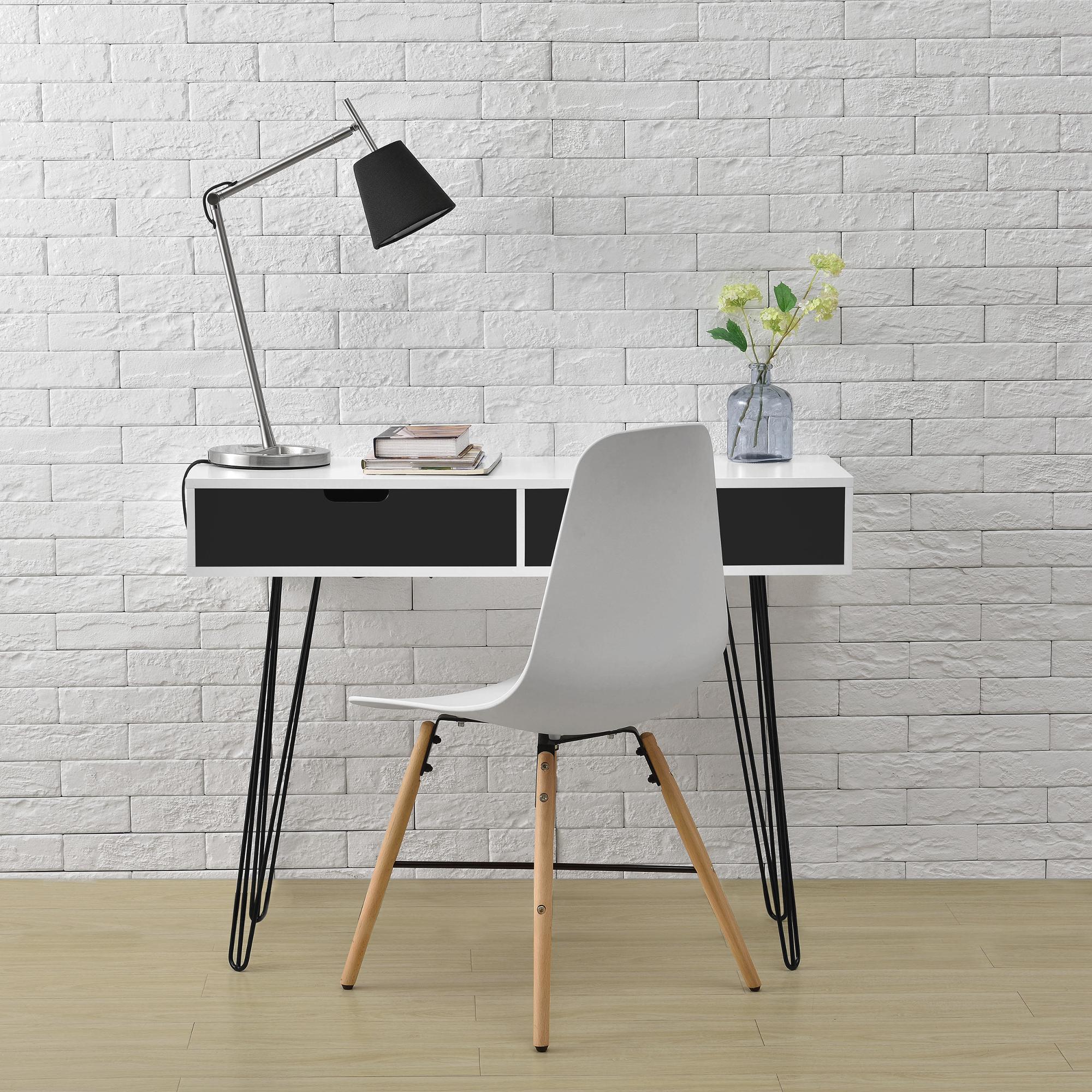Escritorio Blanco/Gris Consola Secretario Aparador Oficina Mesa ...