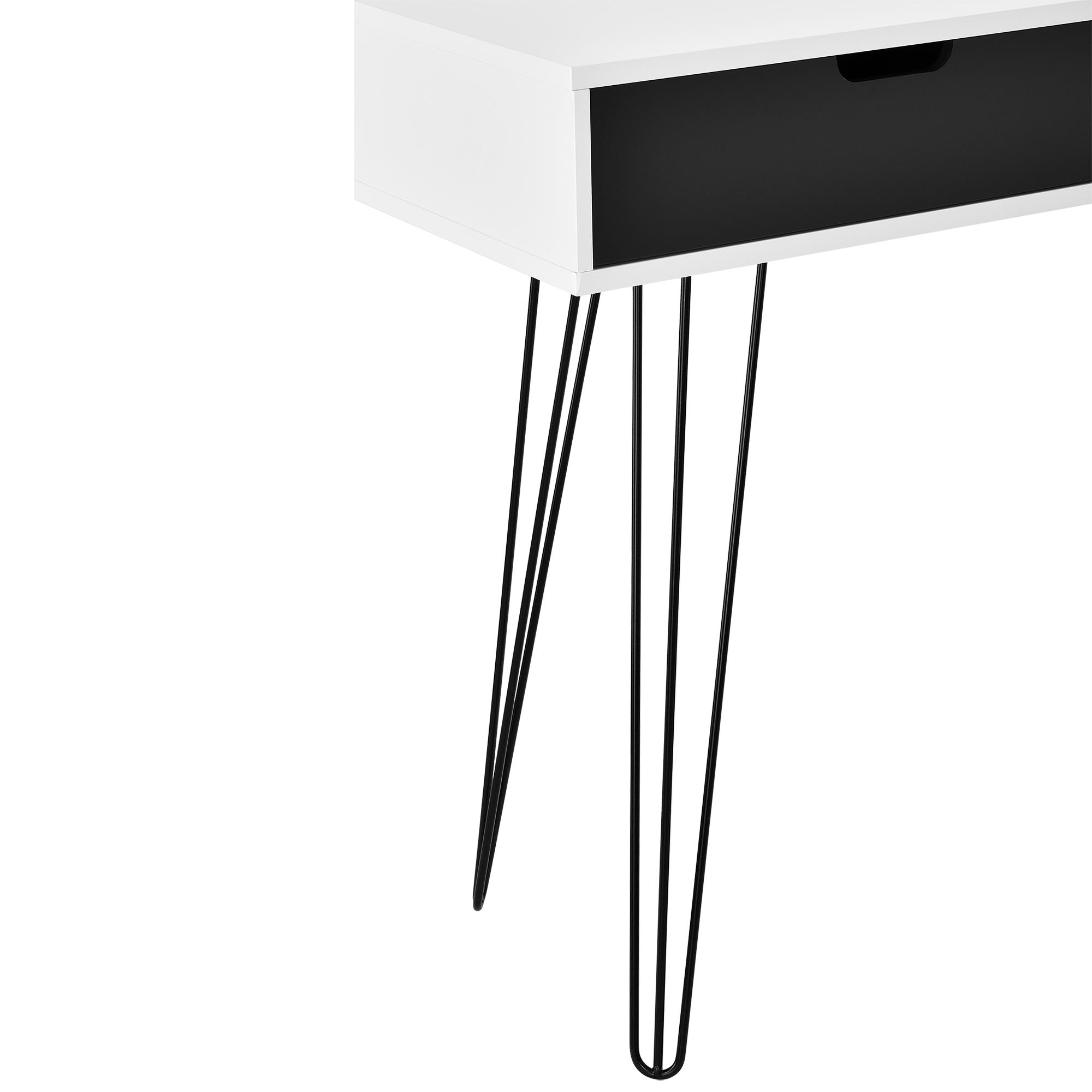 schreibtisch wei grau konsole sekret r. Black Bedroom Furniture Sets. Home Design Ideas