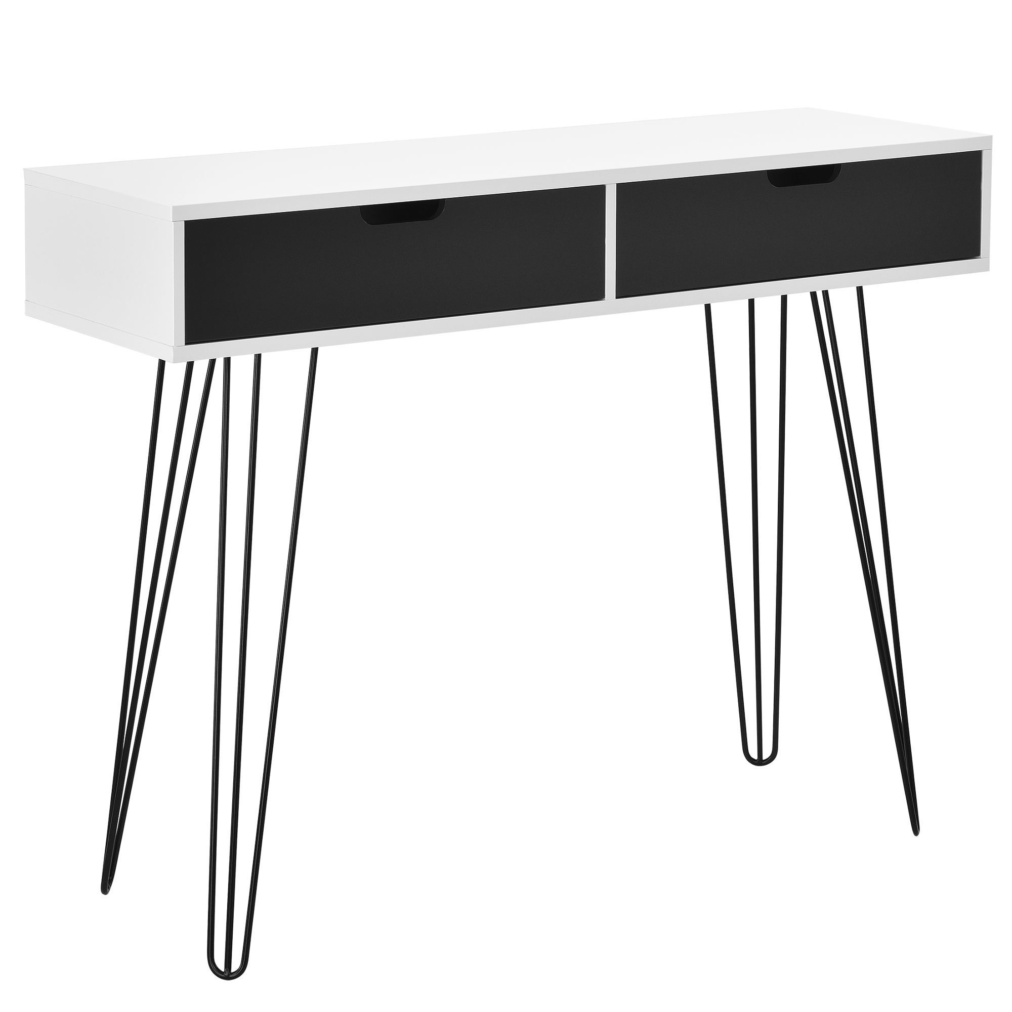 schreibtisch wei grau konsole sekret r sideboard b ro beistell tisch ebay. Black Bedroom Furniture Sets. Home Design Ideas