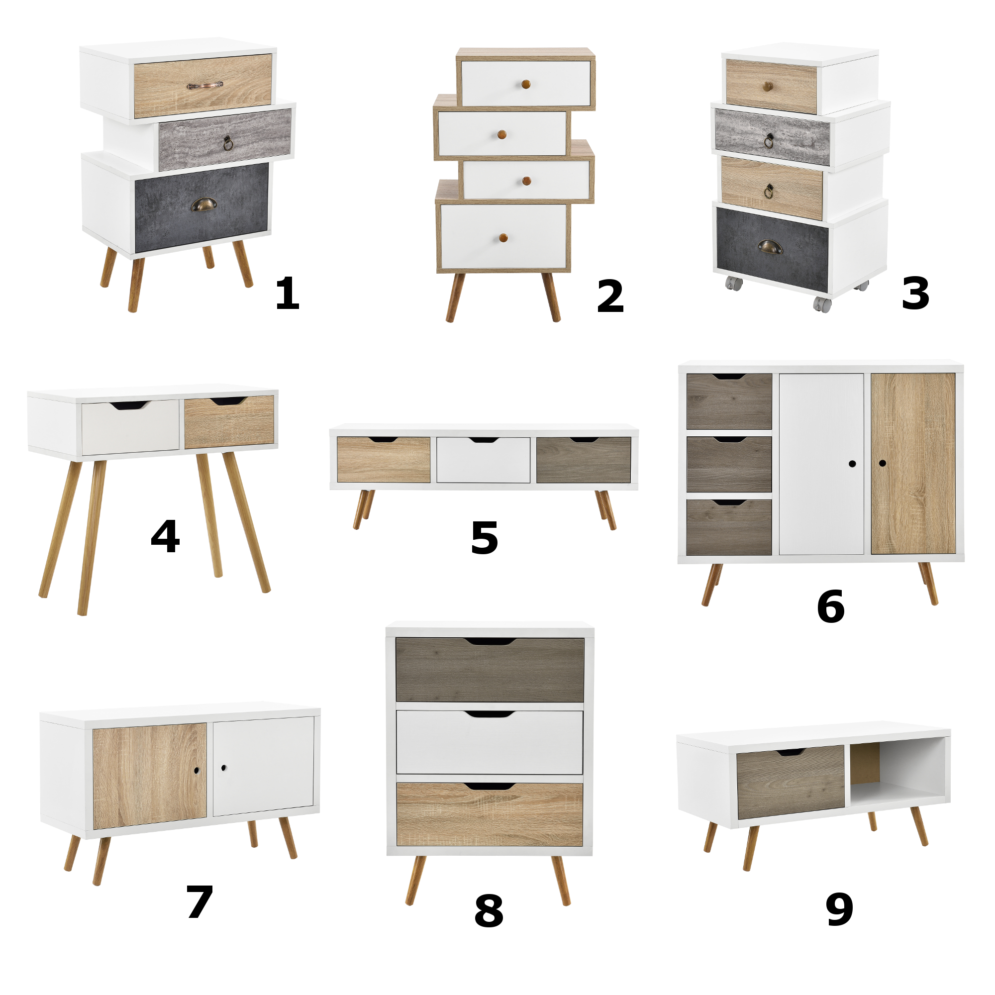 [en.casa] Design Dresser Sideboard Cabinet Side table ...