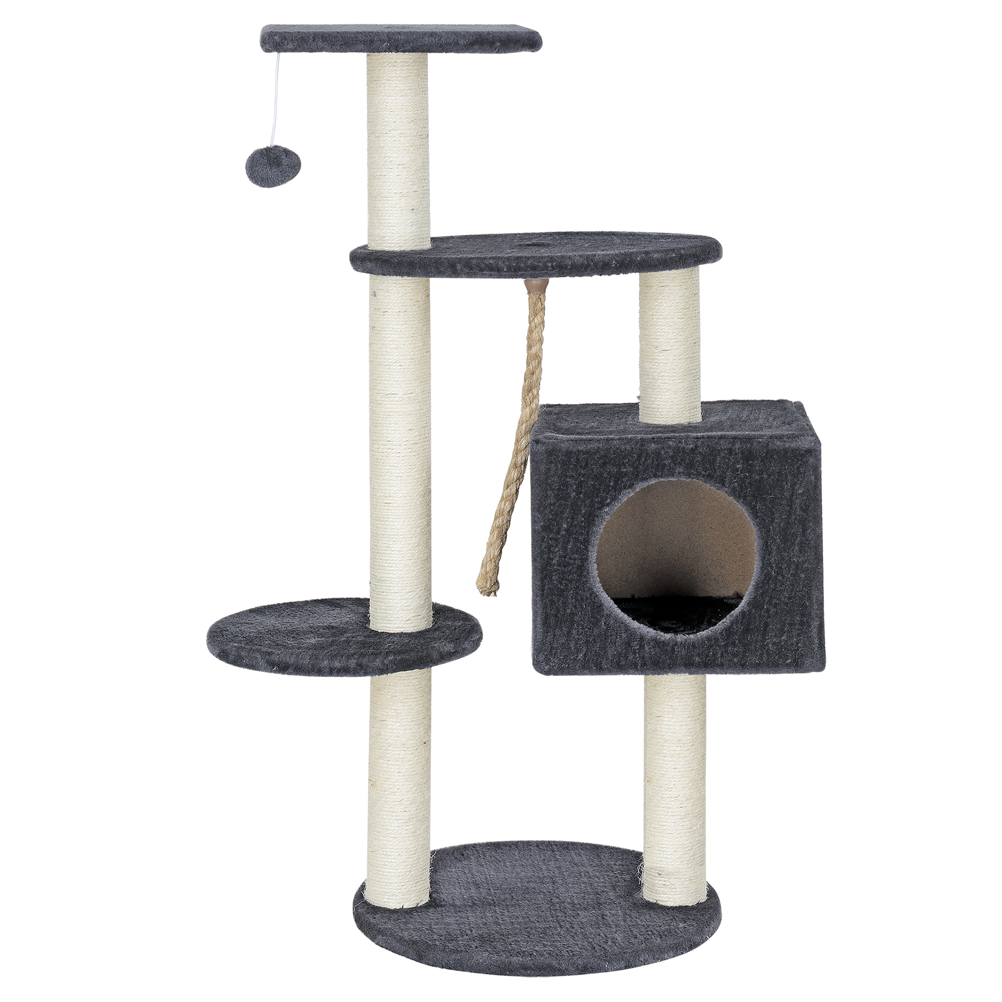 en.casa]® design kratzbaum grau kletterbaum katzen baum