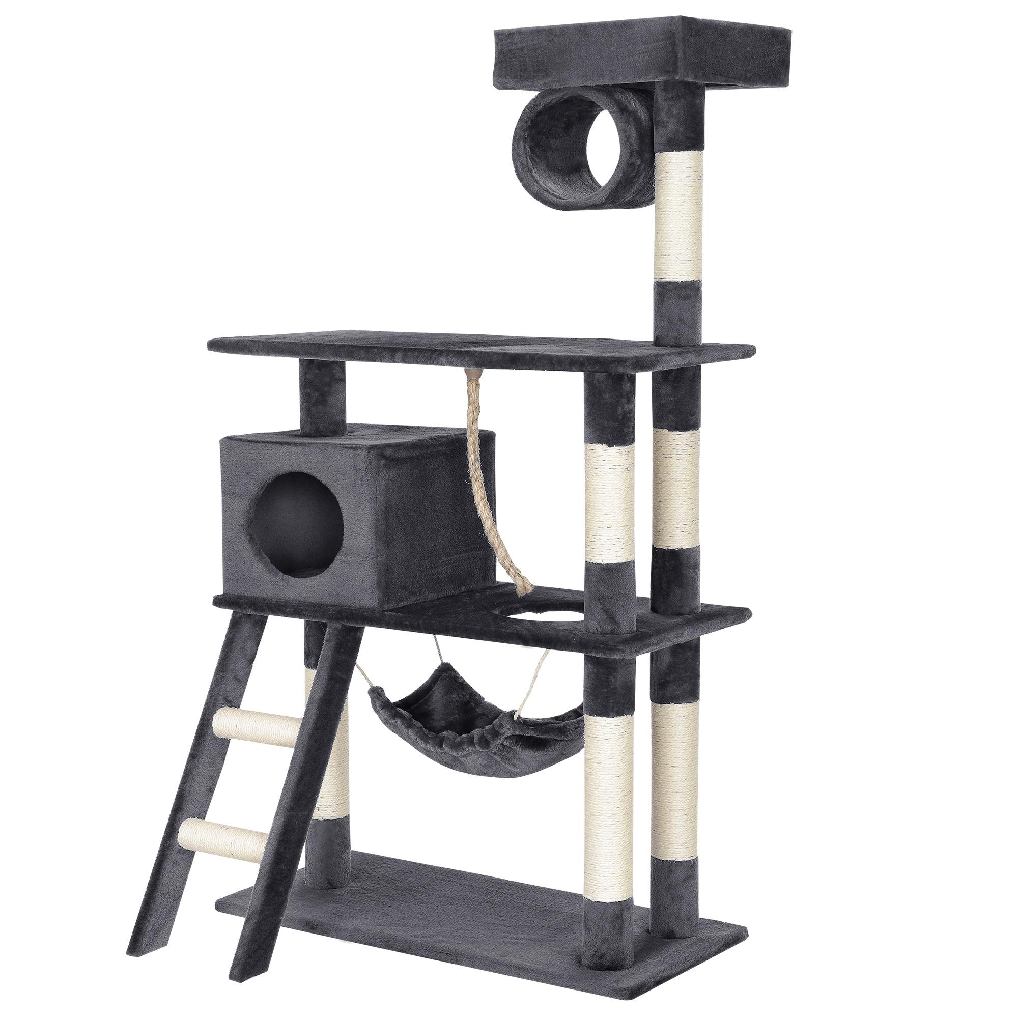 kratzbaum grau kletterbaum katzen baum katzenkratzbaum sisal stamm ebay. Black Bedroom Furniture Sets. Home Design Ideas