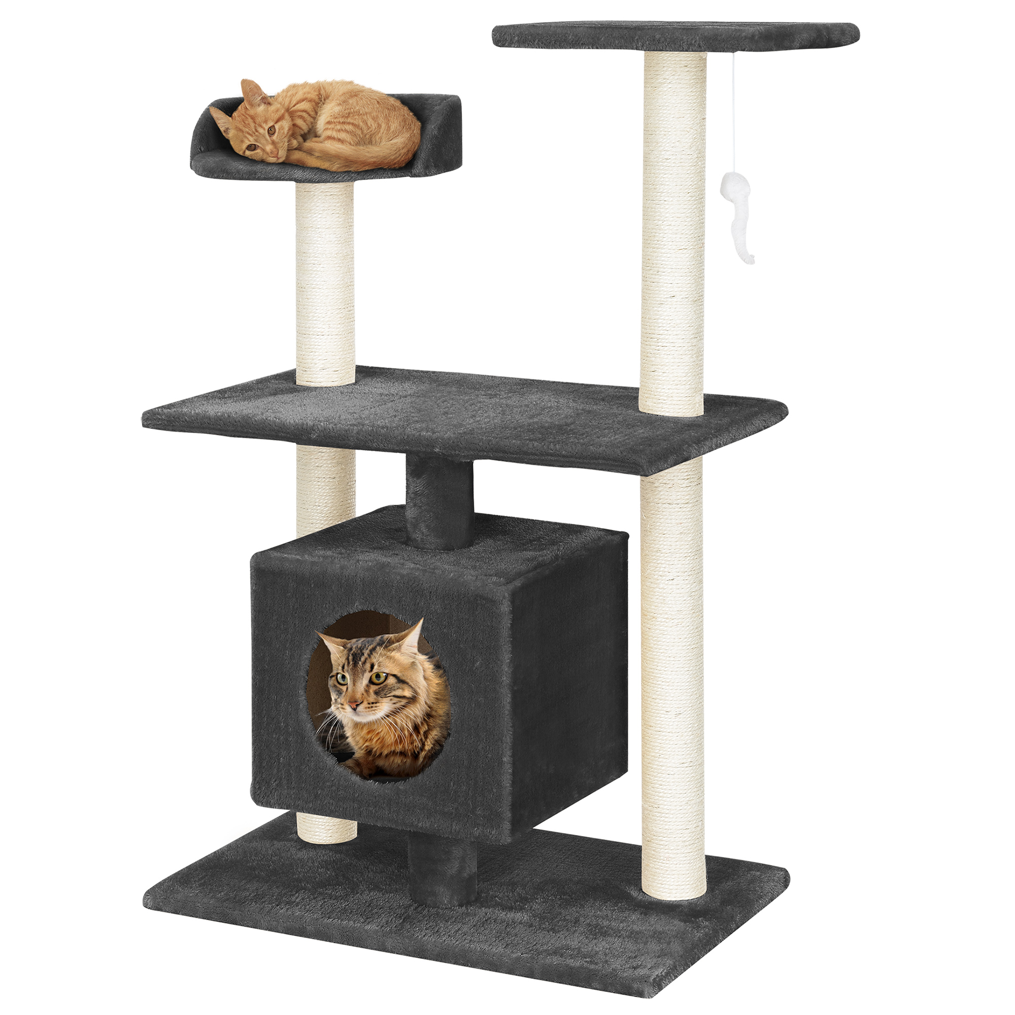 kratzbaum schwarz kletterbaum katzen baum katzenkratzbaum sisal ebay. Black Bedroom Furniture Sets. Home Design Ideas