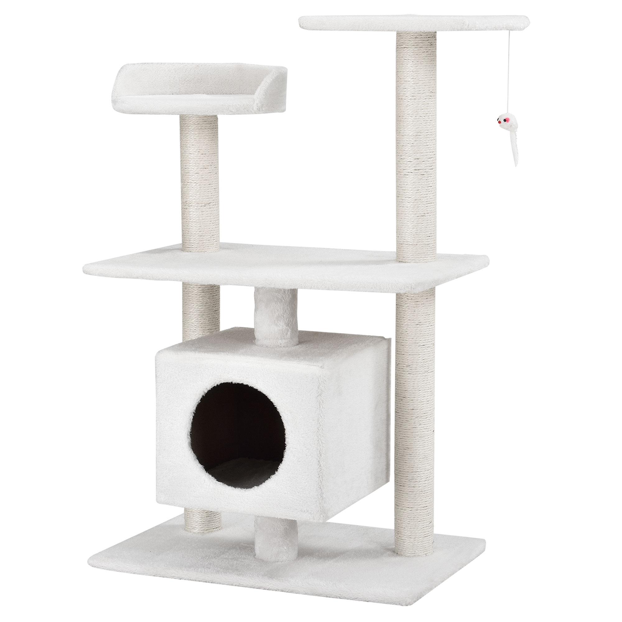 kratzbaum schnee wei kletterbaum katzen baum katzenkratzbaum sisal ebay. Black Bedroom Furniture Sets. Home Design Ideas