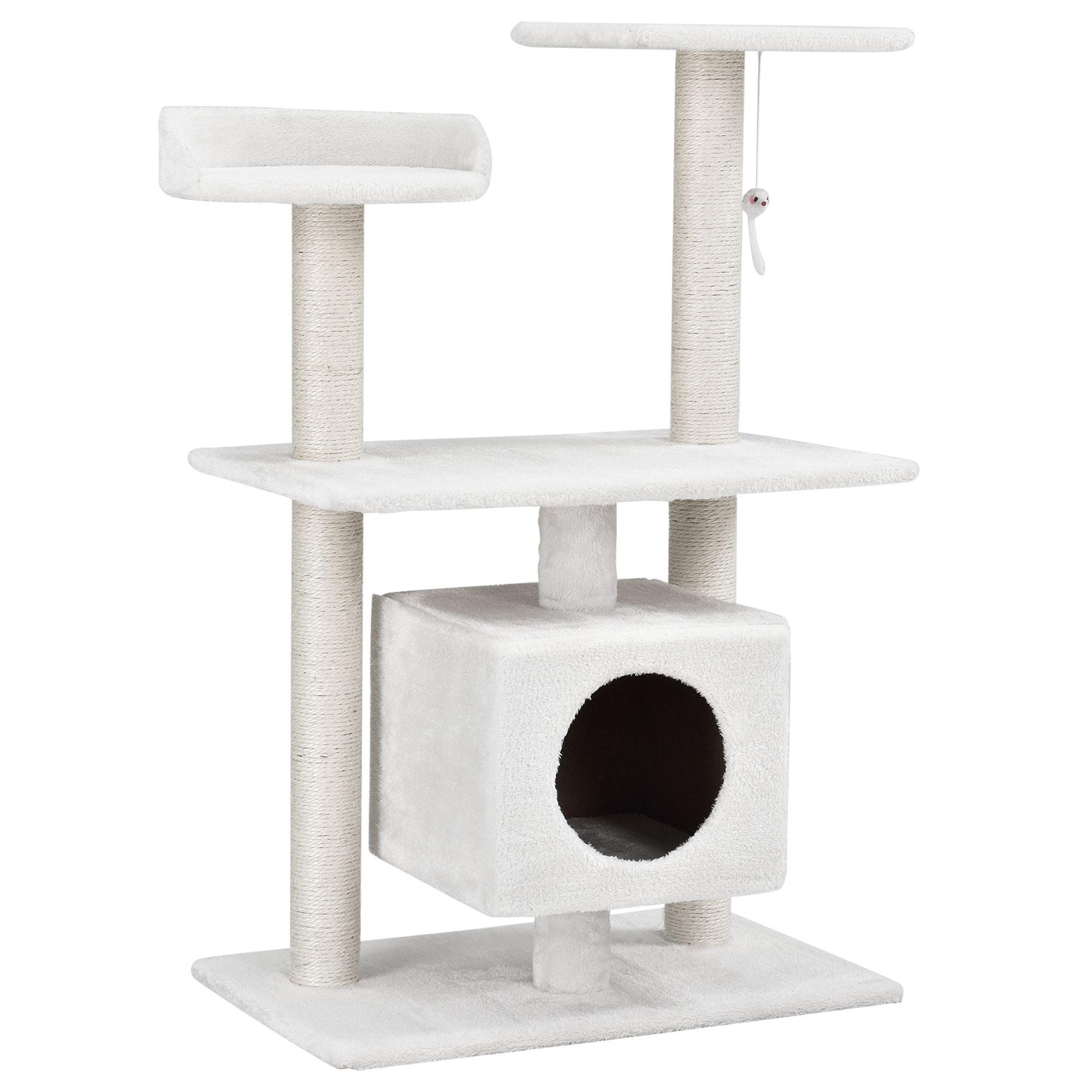 en.casa]® kratzbaum schnee-weiß kletterbaum katzen baum