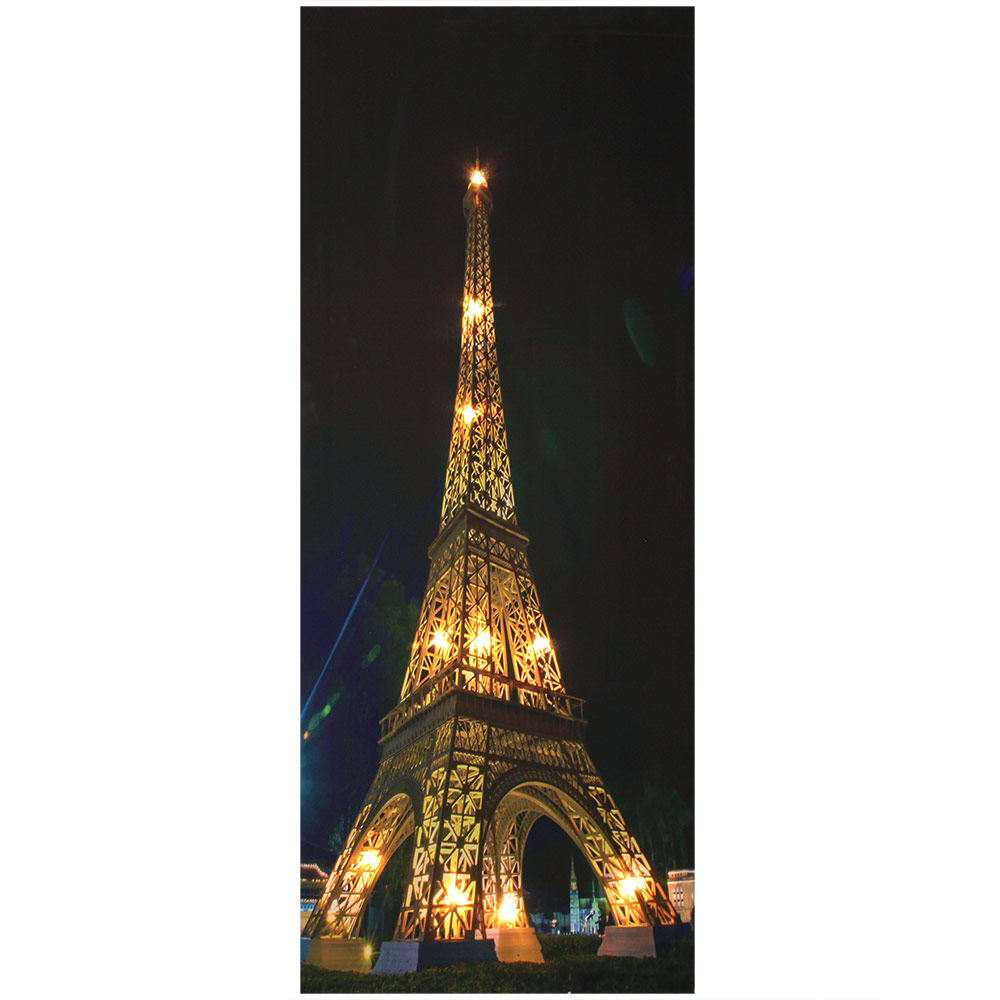led wandbild leinwand 100x40cm eiffelturm bild beleuchtet leuchtbild ebay. Black Bedroom Furniture Sets. Home Design Ideas
