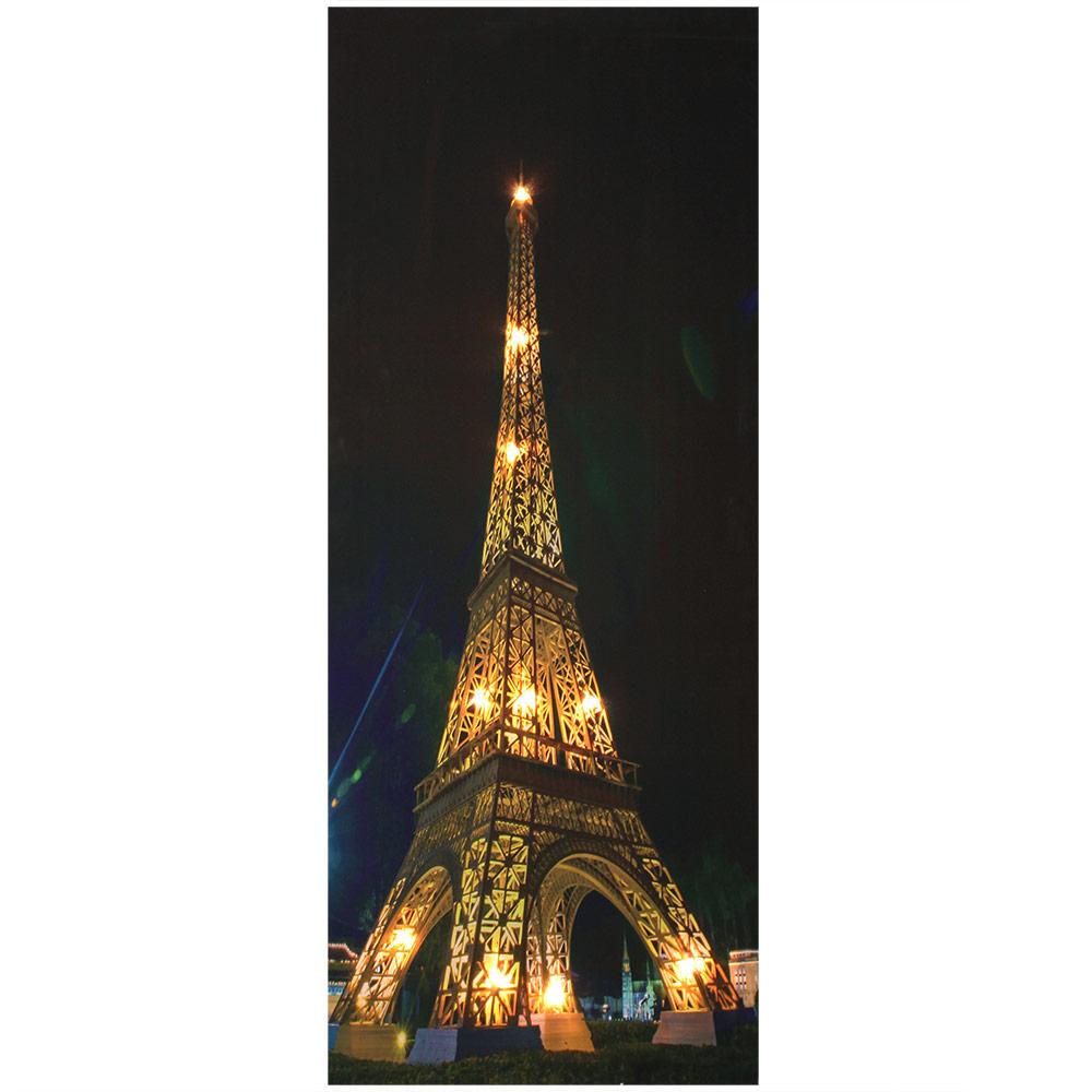 led wandbild leinwand 100x40cm eiffelturm bild beleuchtet leuchtbild ebay. Black Bedroom Furniture Sets. Home Design Ideas