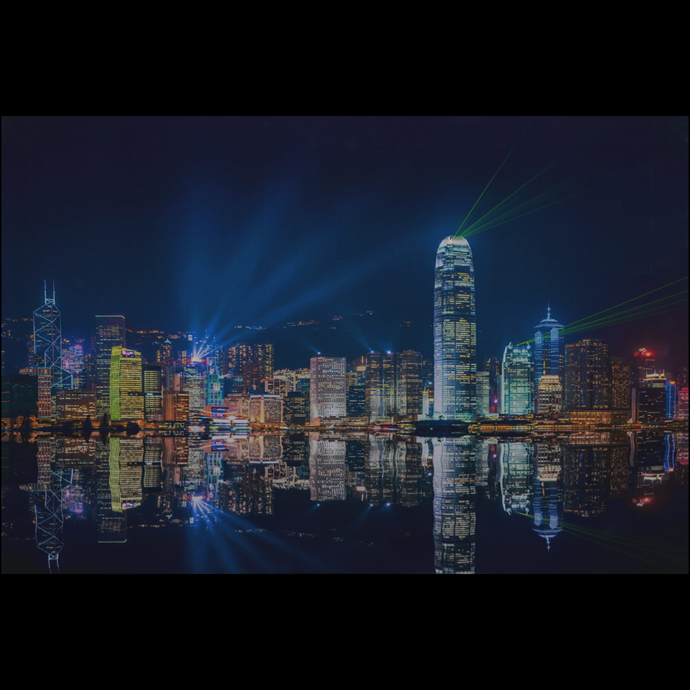 led wandbild leinwand 60x40cm hong kong bild beleuchtet leuchtbild ebay. Black Bedroom Furniture Sets. Home Design Ideas